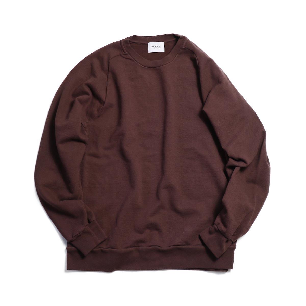 blurhms / Freedom Sleeve Sweat Shirt - Brown