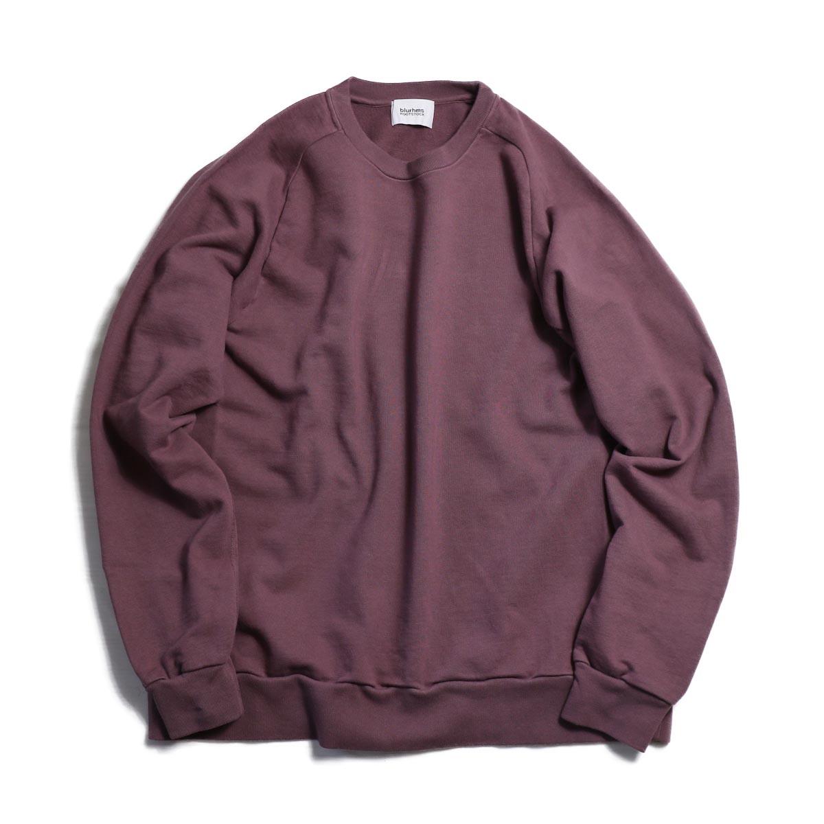 blurhms / Freedom Sleeve Sweat Shirt - Ash Purple