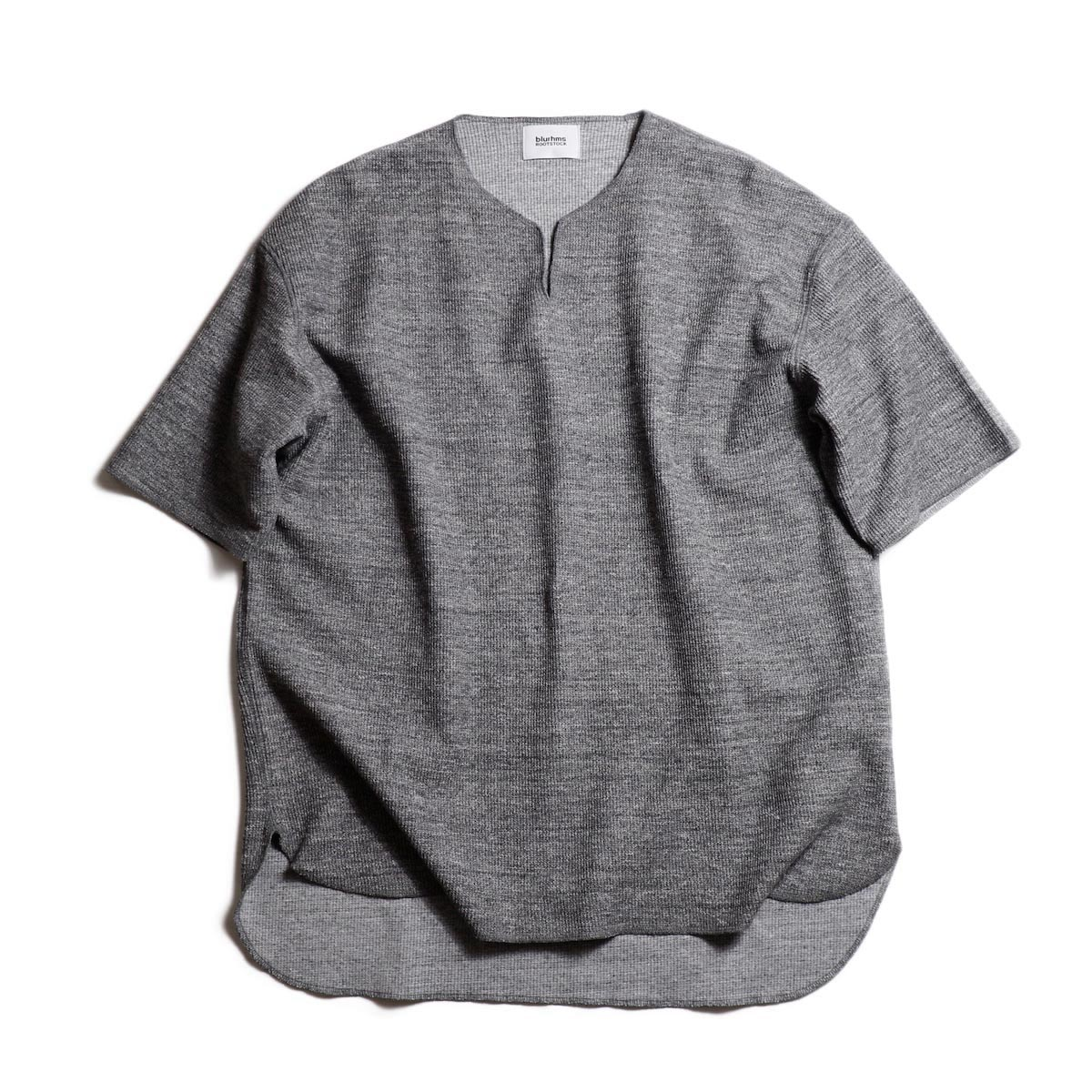 blurhms / Rough & Smooth Thermal Loose Fit Over-neck -H.Charcoal