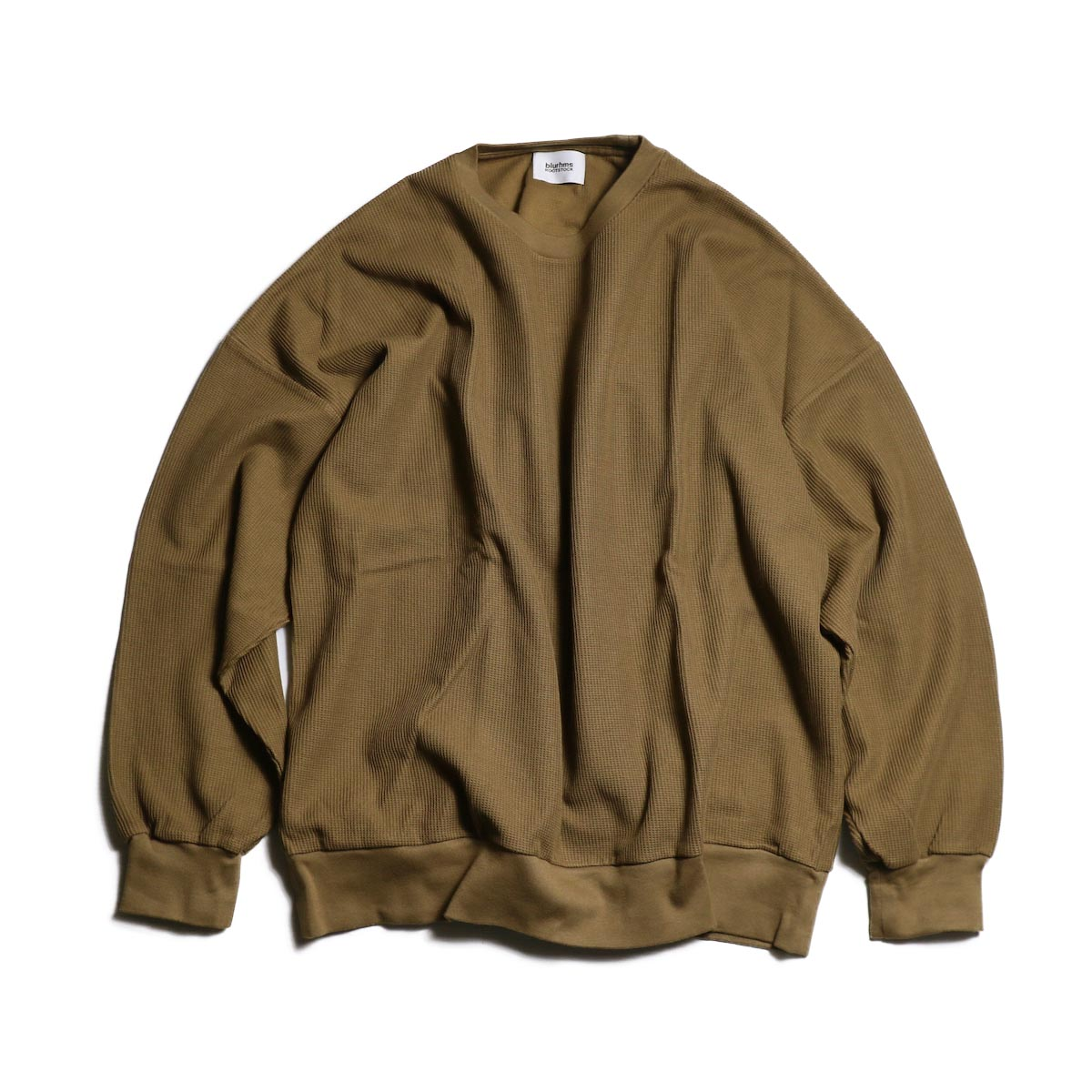 blurhms / New Rough & Smooth Thermal Loose Fit Crew-Neck L/S (Coyote)