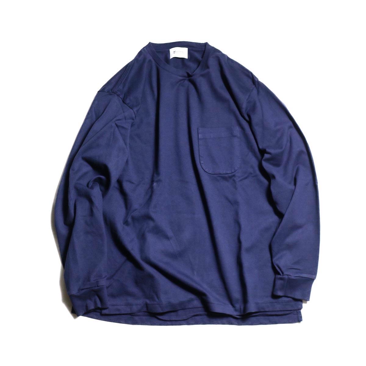 blurhms / Middle-Weight & Super Soft Pocket L/S -Navy