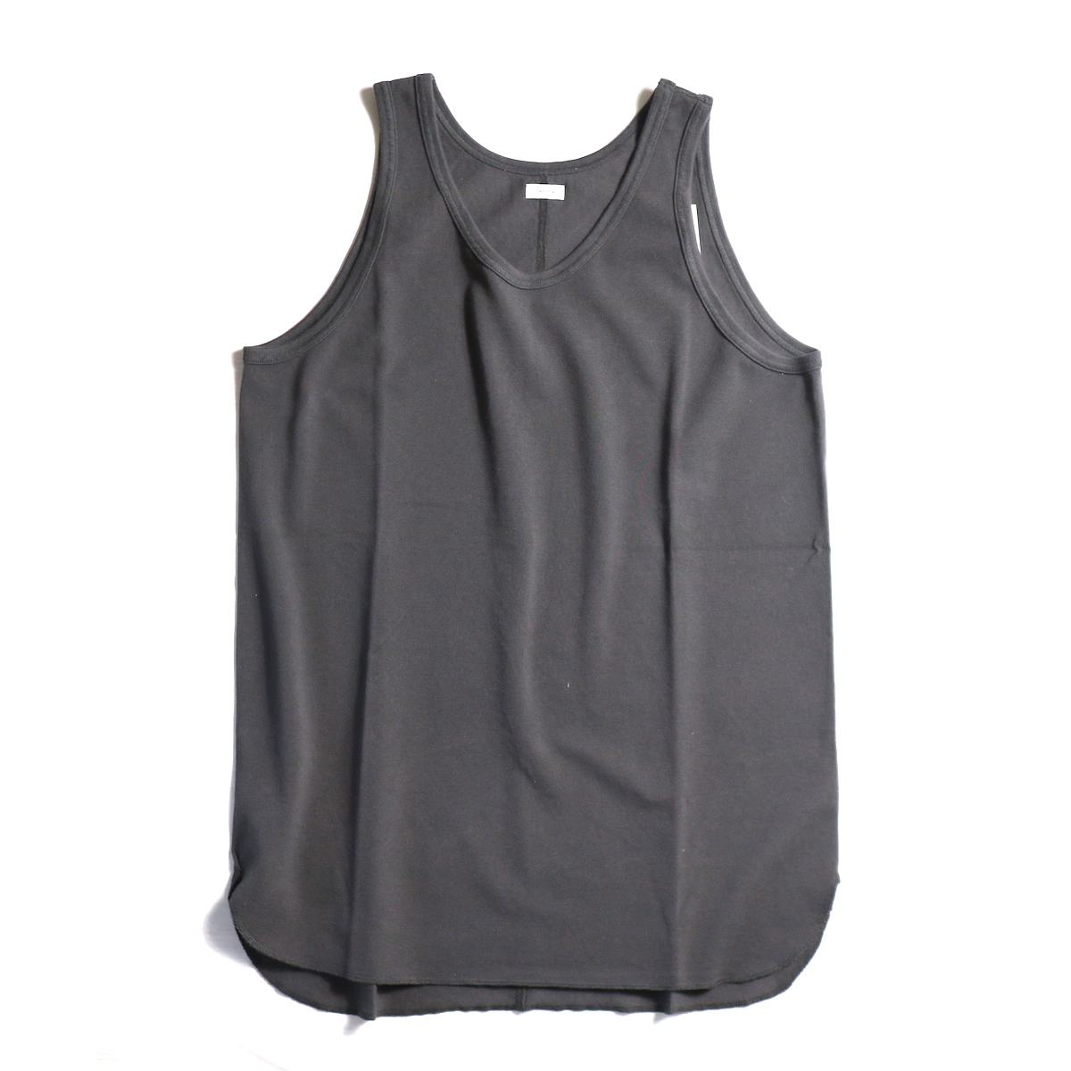 blurhms / Long Tank Top -Ash Charcoal
