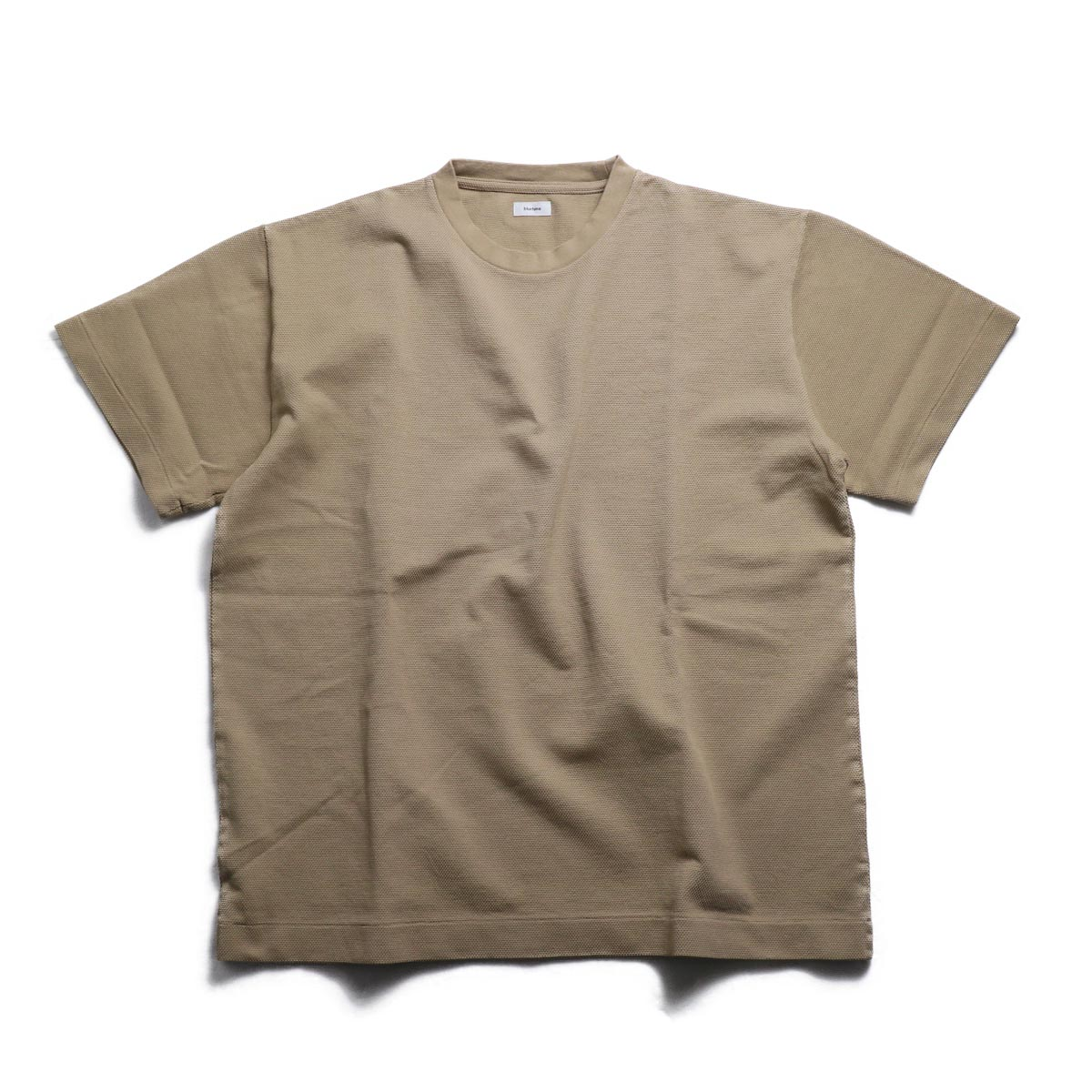 blurhms / Seed Stitch Box Tee -Light Beige