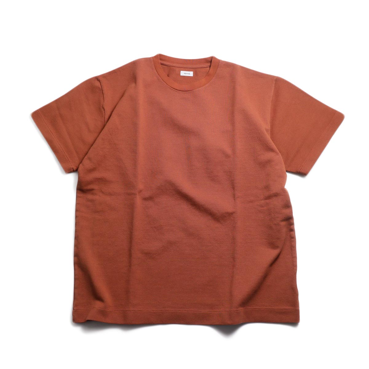 blurhms / Seed Stitch Box Tee -Ash Orange