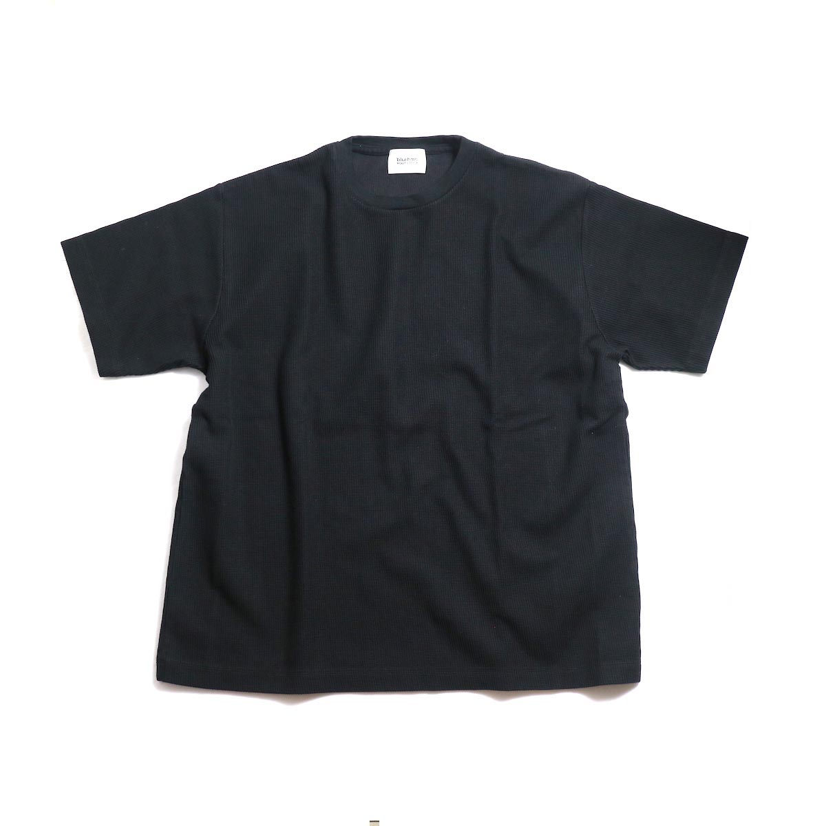 blurhms / New Rough & Smooth Thermal Box Tee -Black