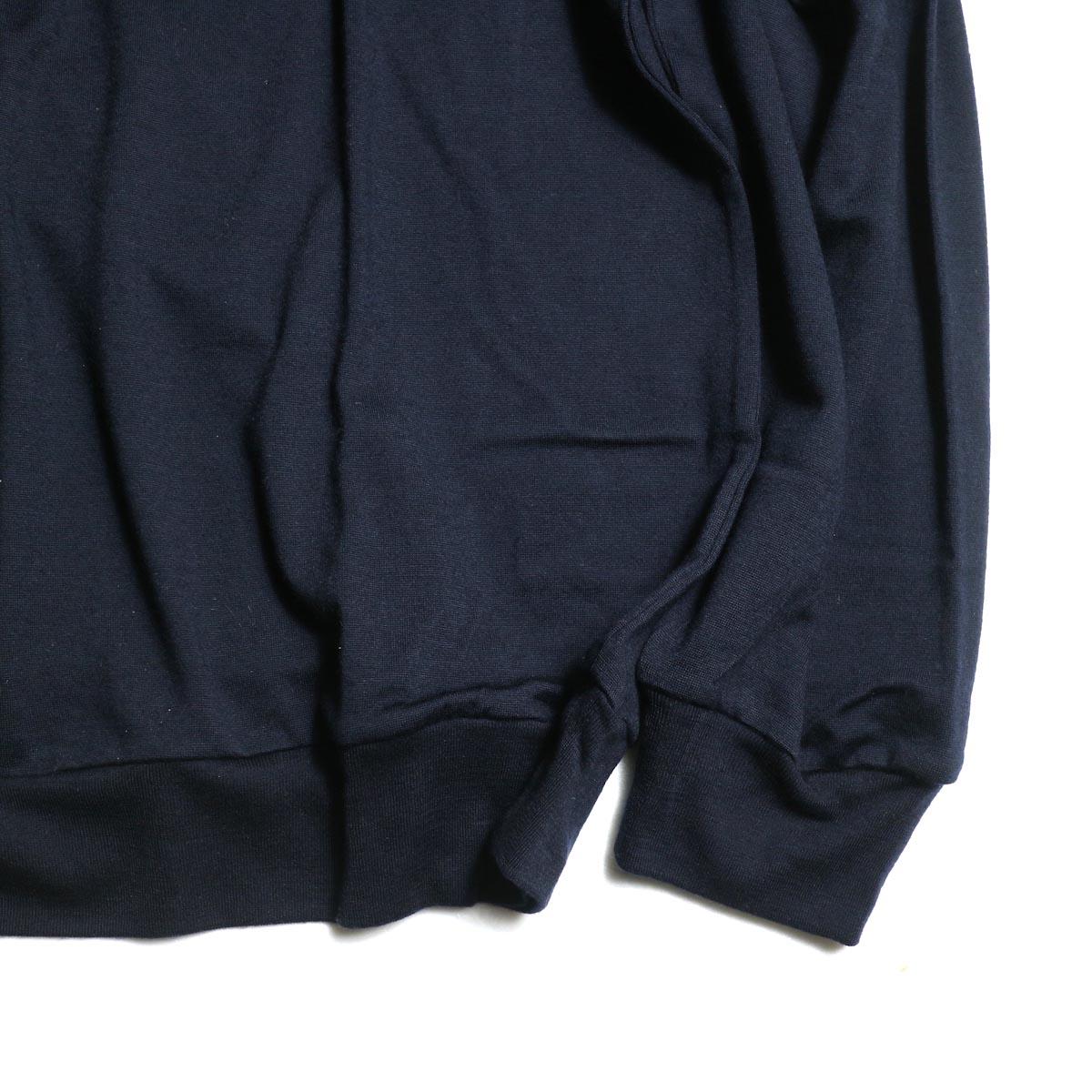 blurhms / Shrink Wool Gazette P/O (Navy)  袖、裾