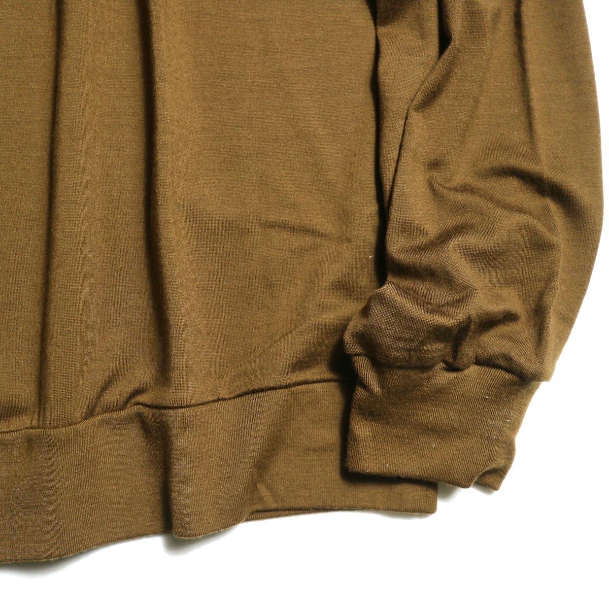 blurhms / Shrink Wool Gazette P/O (Taupe)  袖、裾
