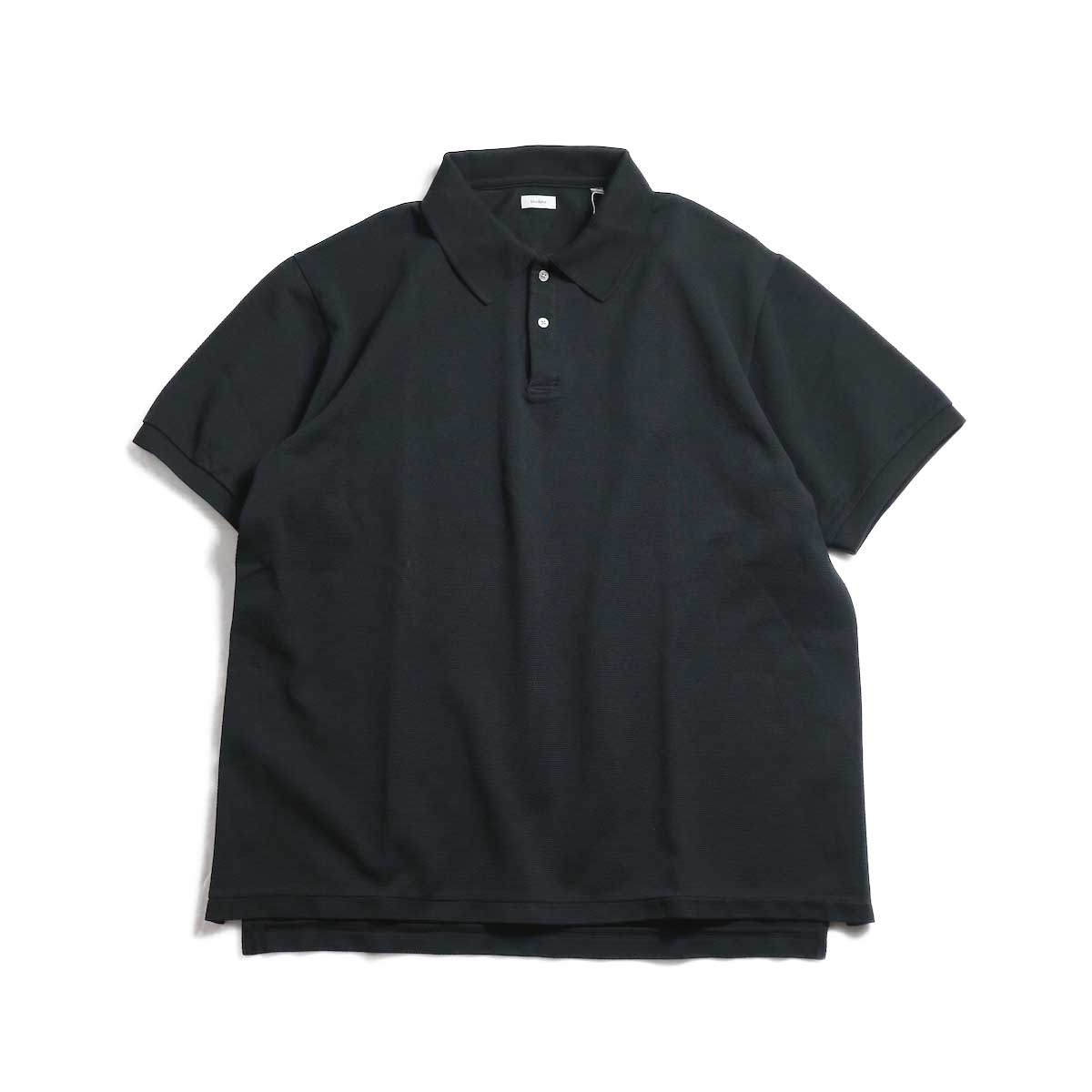 blurhms / Seed Stitch Polo Shirt -Black