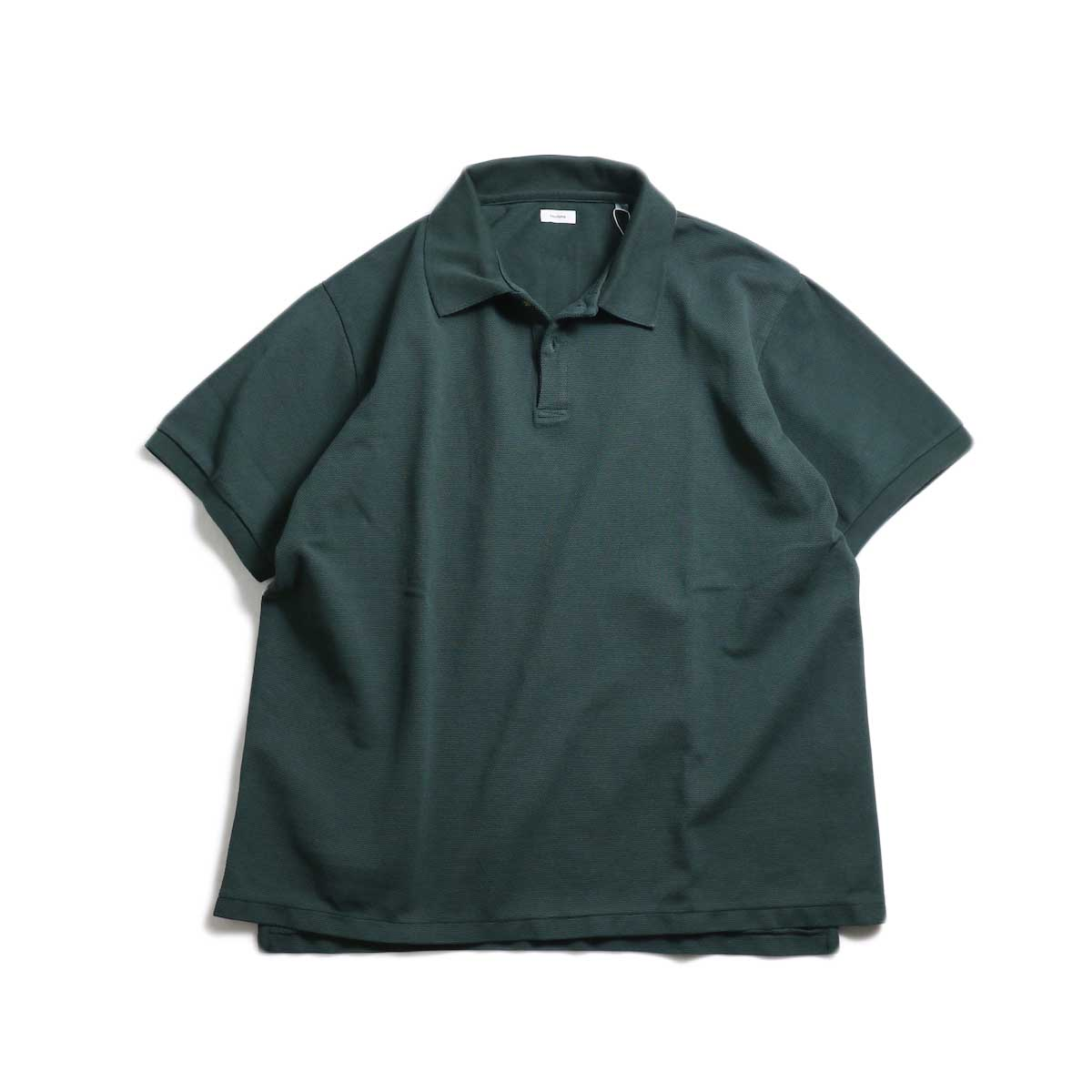 blurhms / Seed Stitch Polo Shirt -Deep Olive