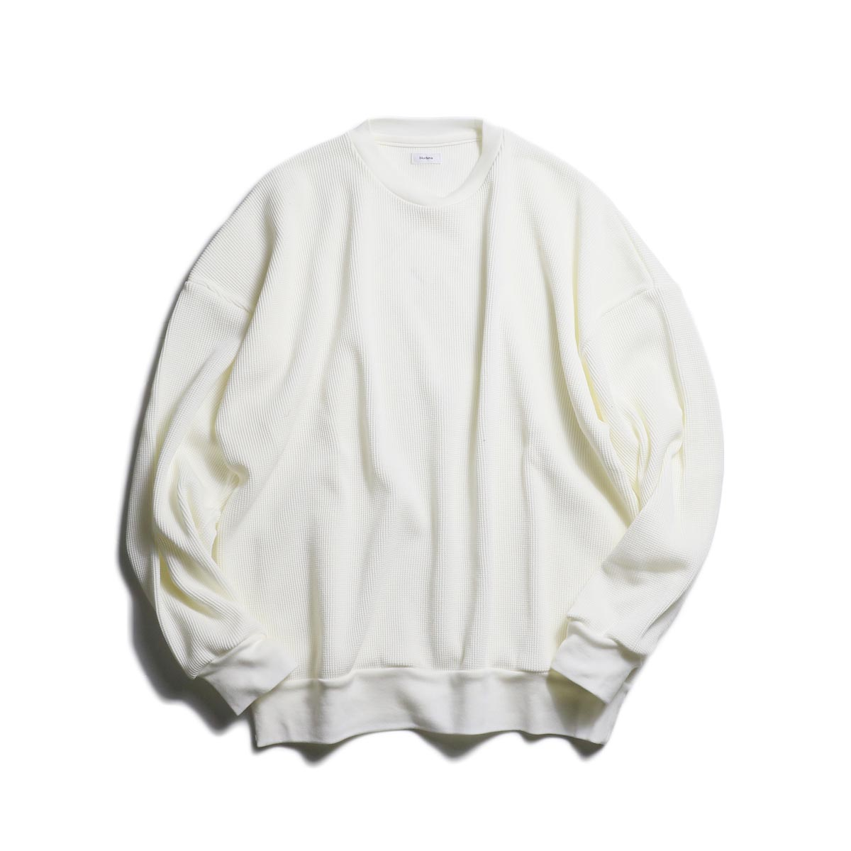 blurhms / Cotton Cupro Waffle Pullover L/S (Off) 正面