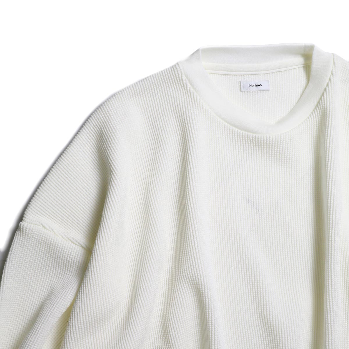 blurhms / Cotton Cupro Waffle Pullover L/S (Off)  襟