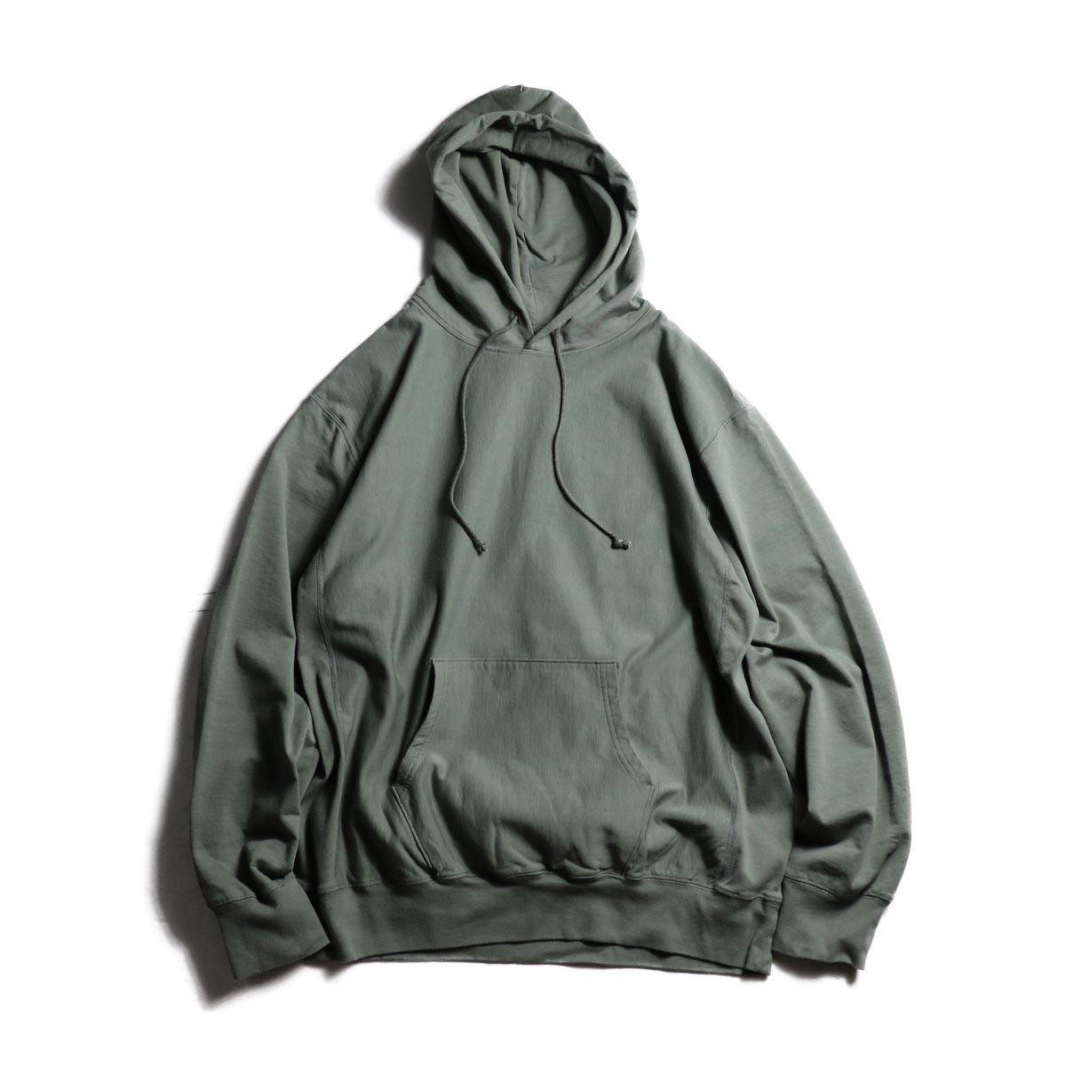 blurhms / High Gauge Sweat Hoodie P/O (Ash Olive)