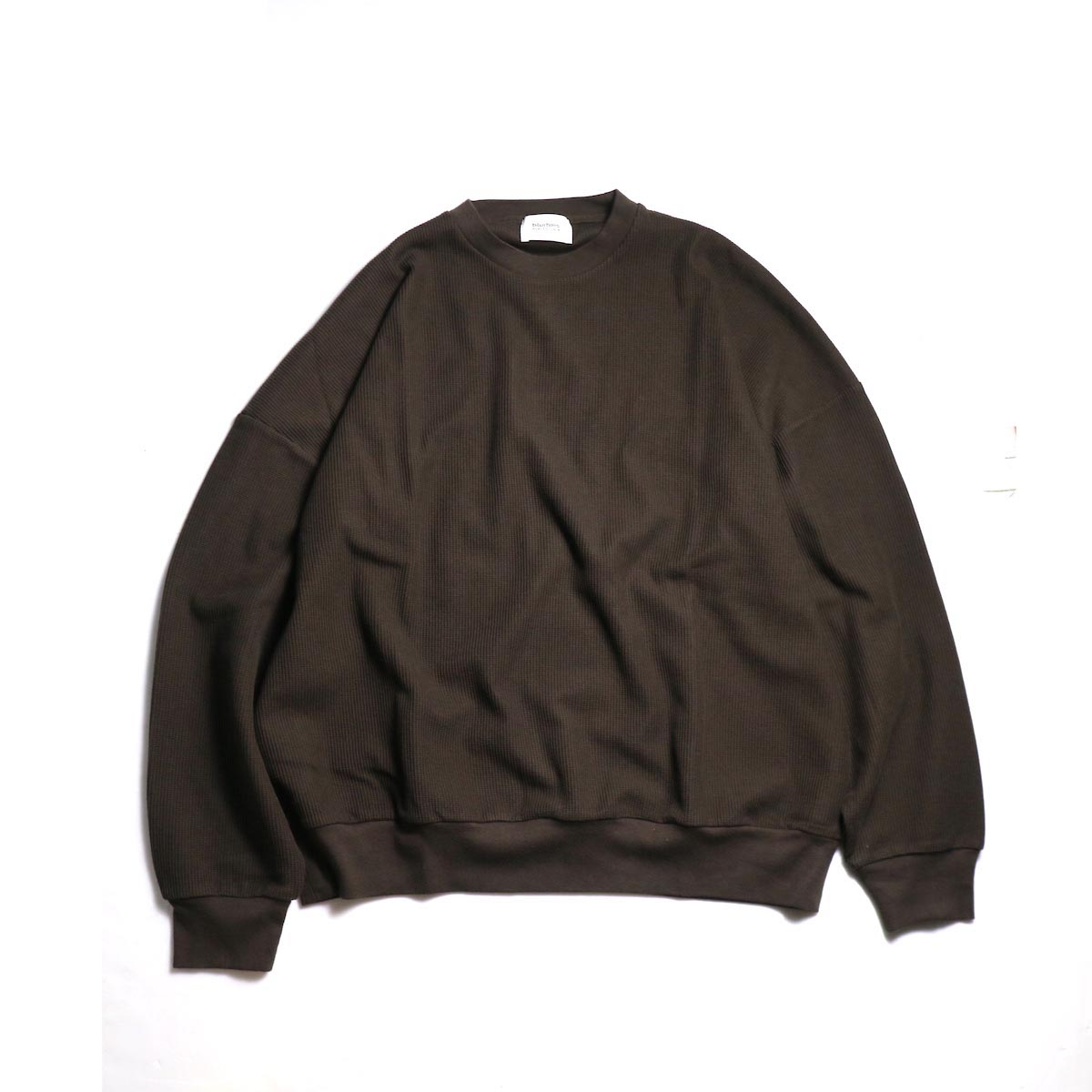 blurhms / New Rough & Smooth Thermal P/O Loose Fit -Brown