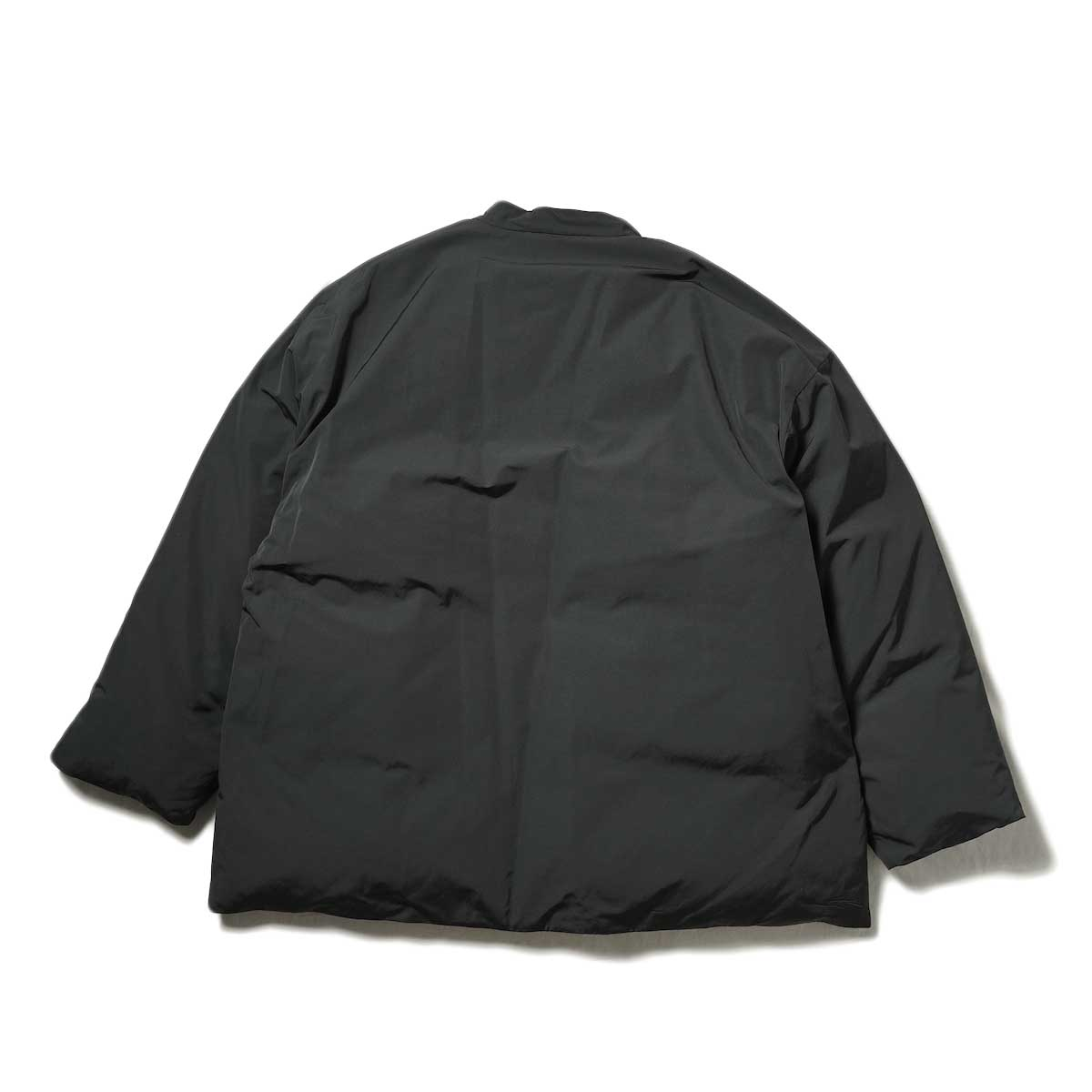 blurhms / Stand-up Collar Down Jacket (Black) 背面