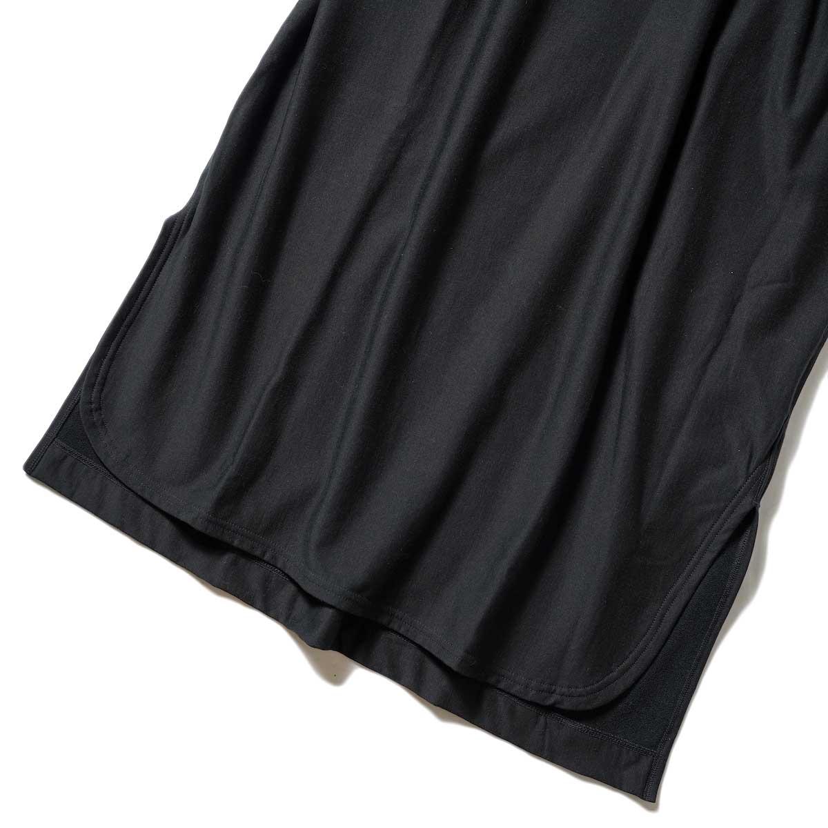 blurhms / High Gauge Sweat Dress (Black) 裾