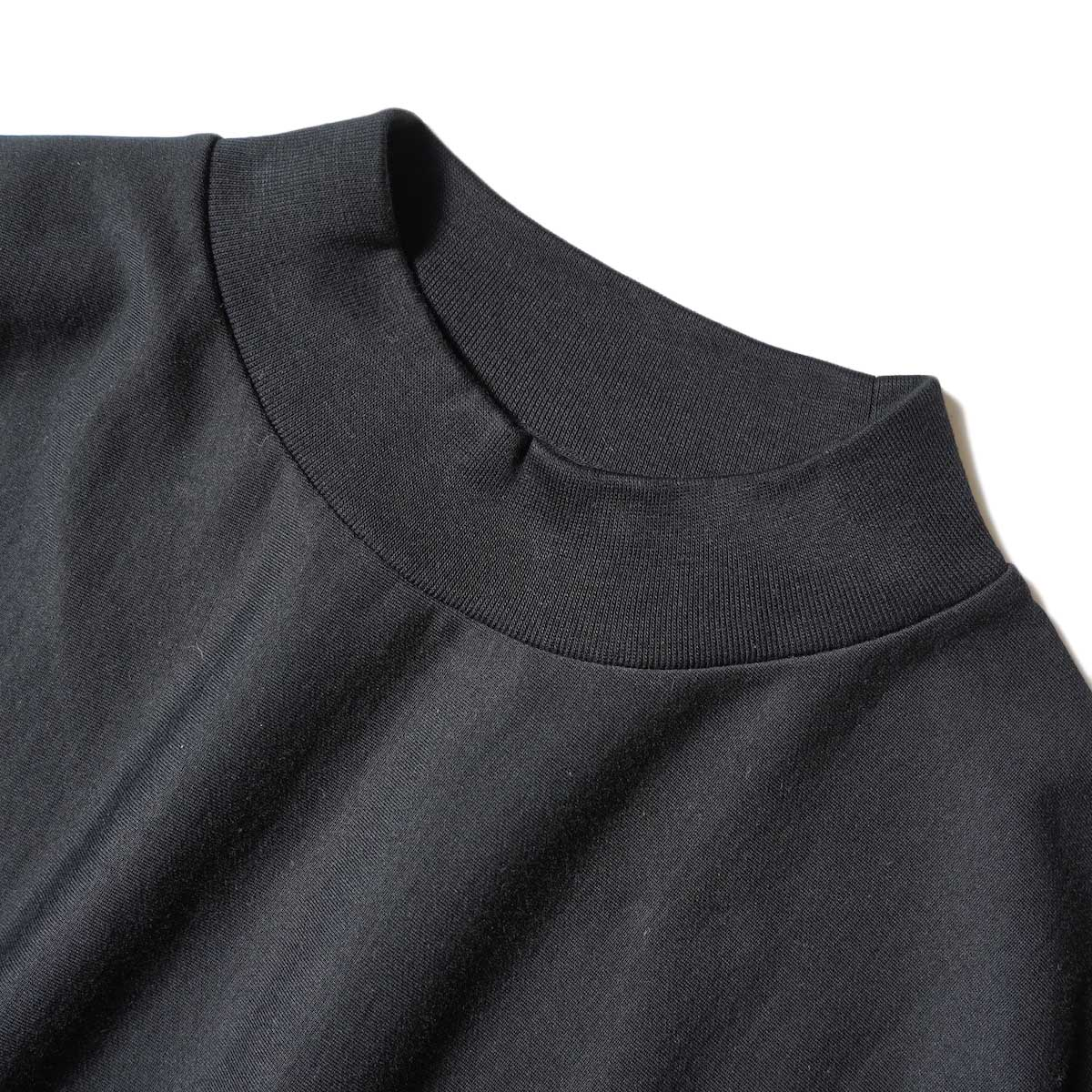 blurhms / High Gauge Sweat Dress (Black) ネック