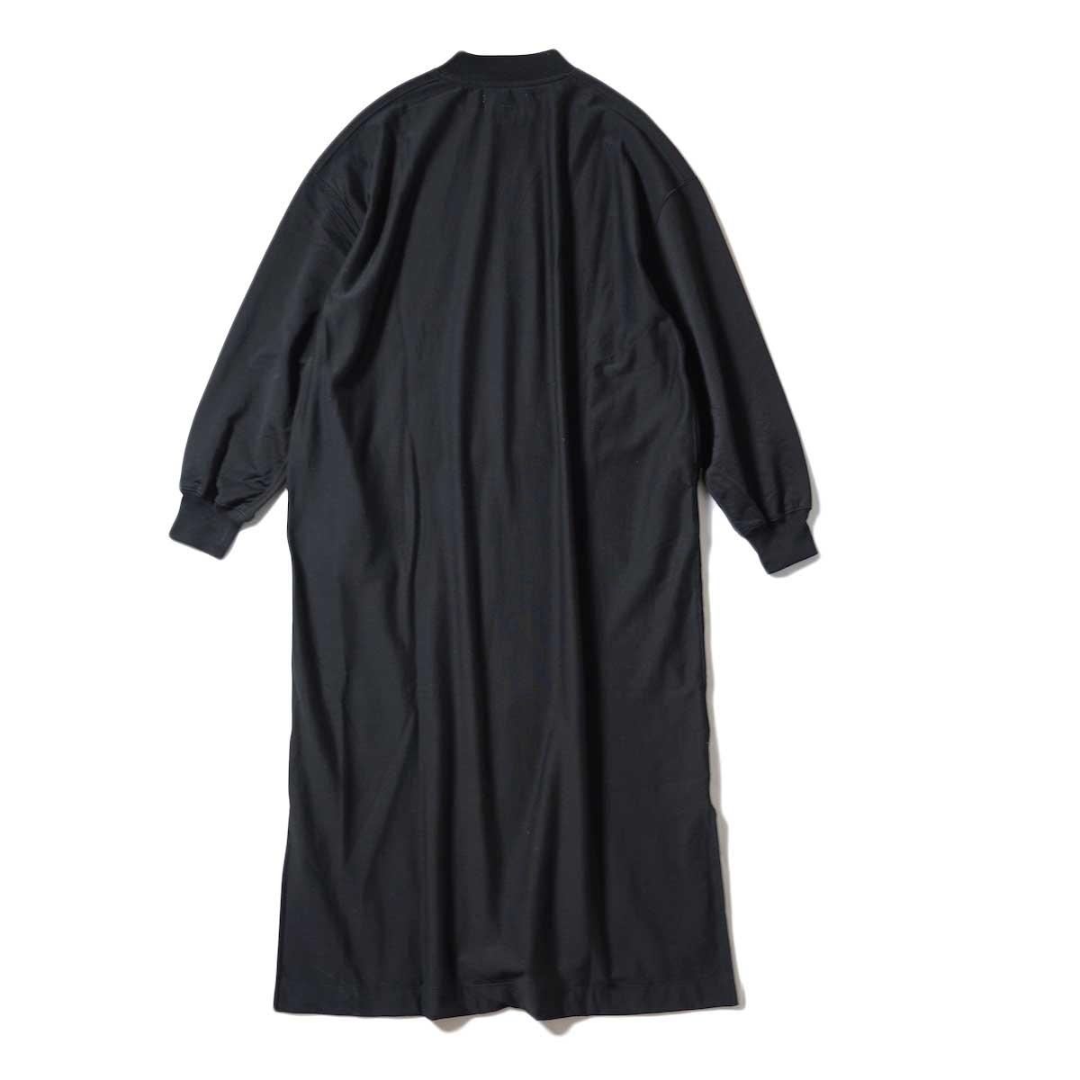 blurhms / High Gauge Sweat Dress (Black) 背面