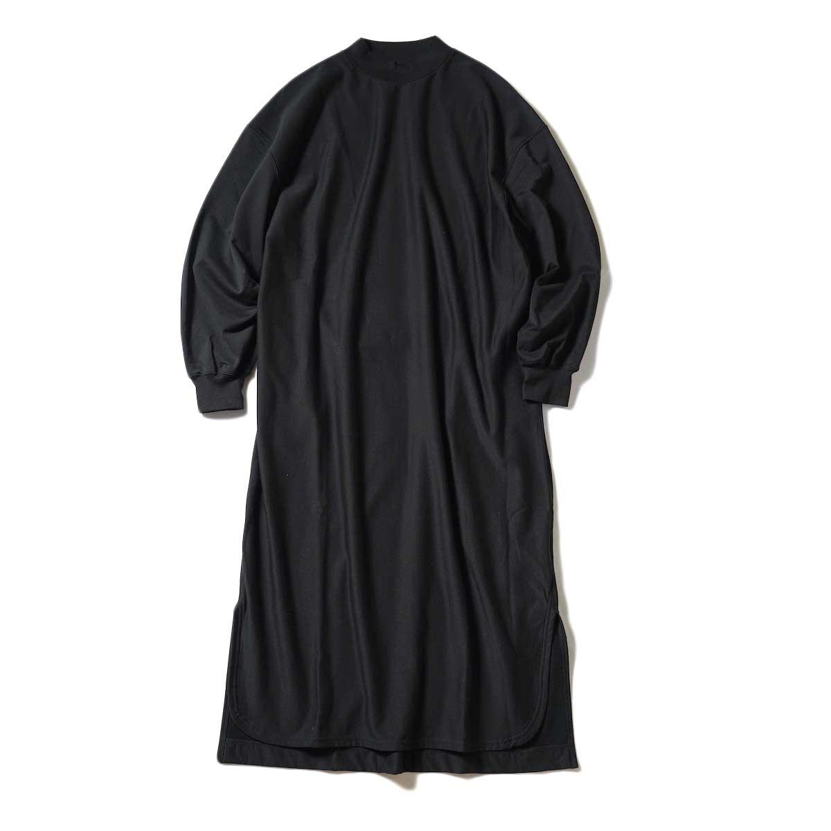 blurhms / High Gauge Sweat Dress (Black) 正面