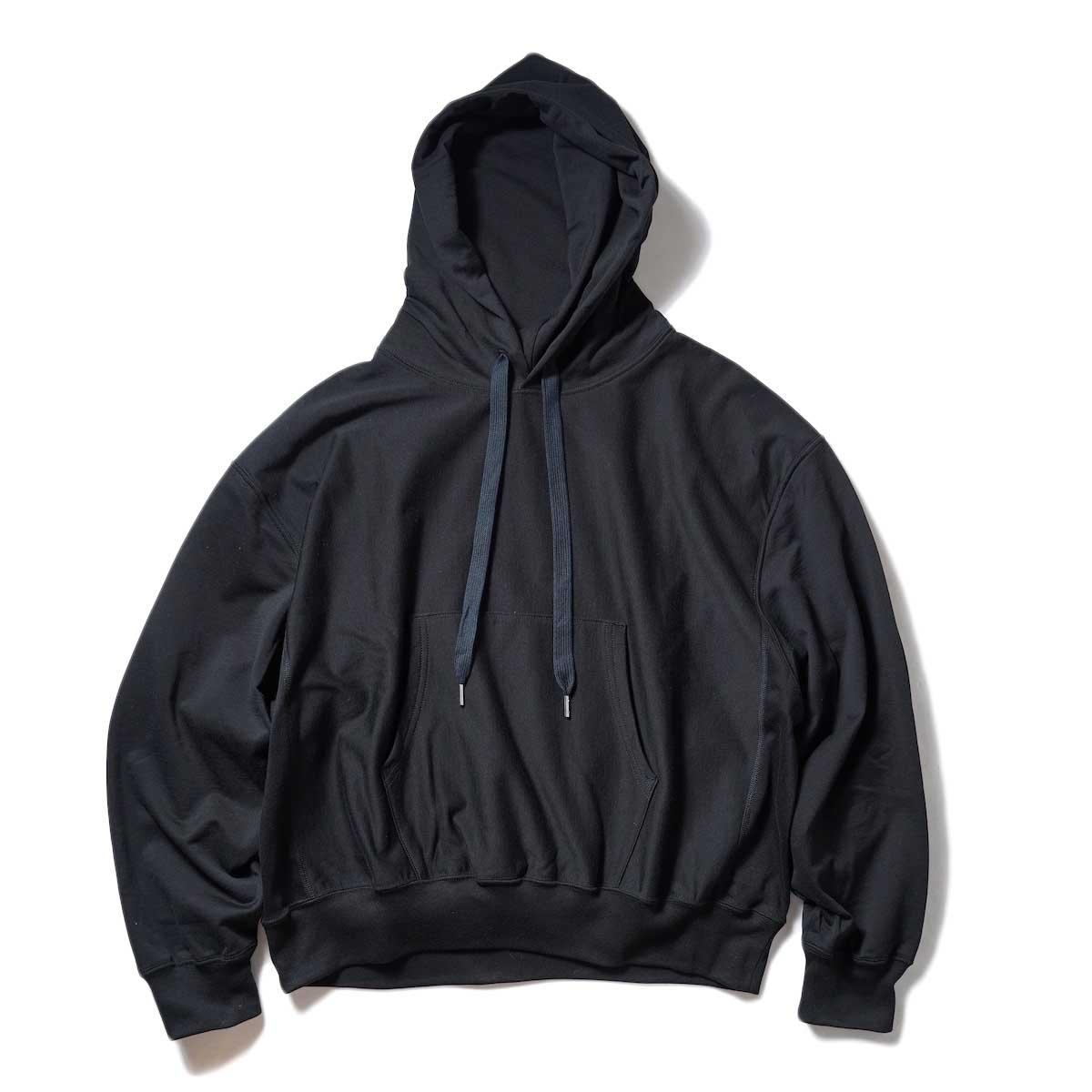 blurhms / High Gauge Sweat Hoodie P/O (Black) 正面