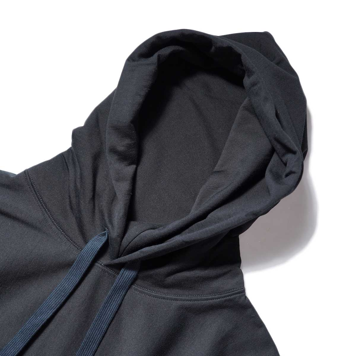 blurhms / High Gauge Sweat Hoodie P/O (Black) フード