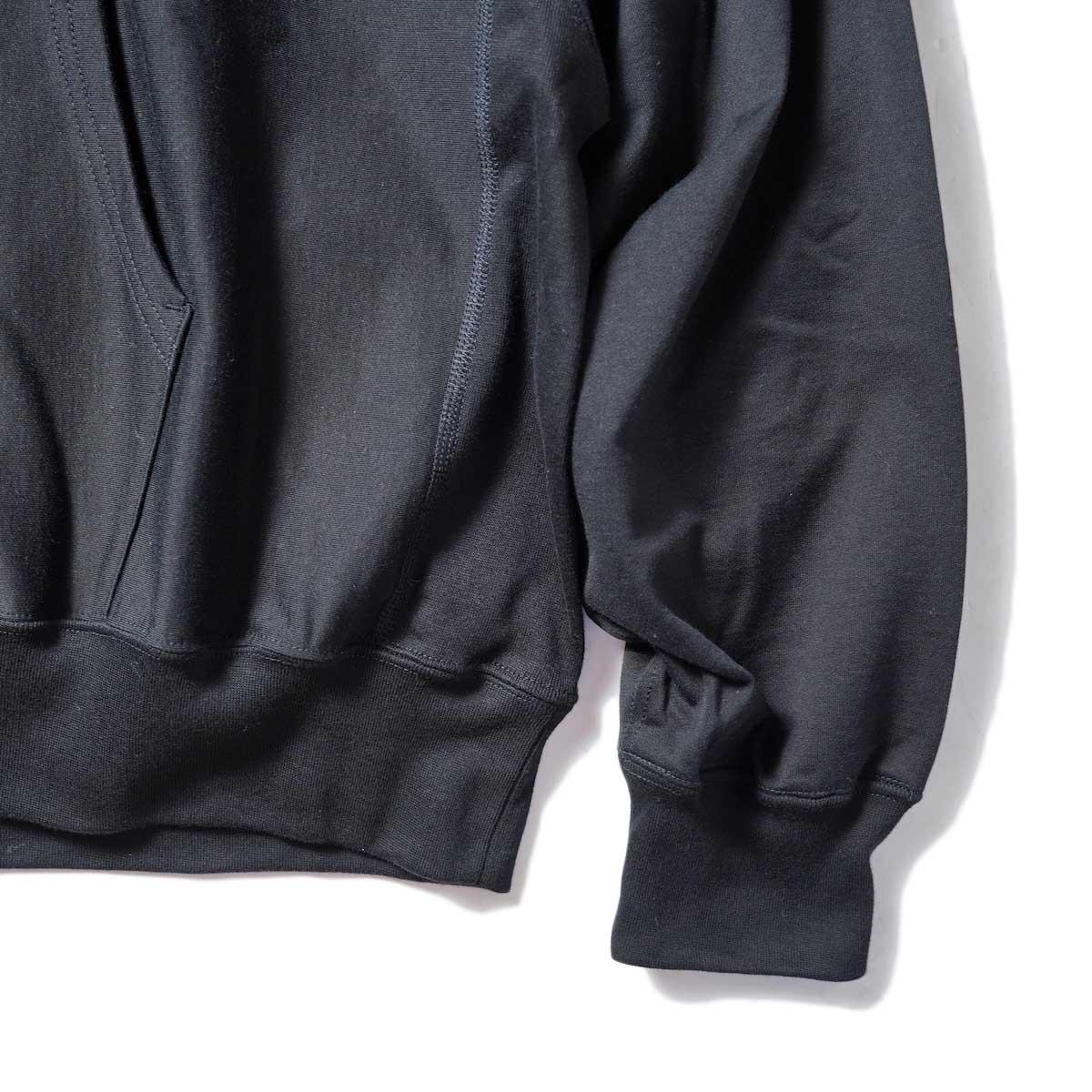 blurhms / High Gauge Sweat Hoodie P/O (Black) 袖・裾