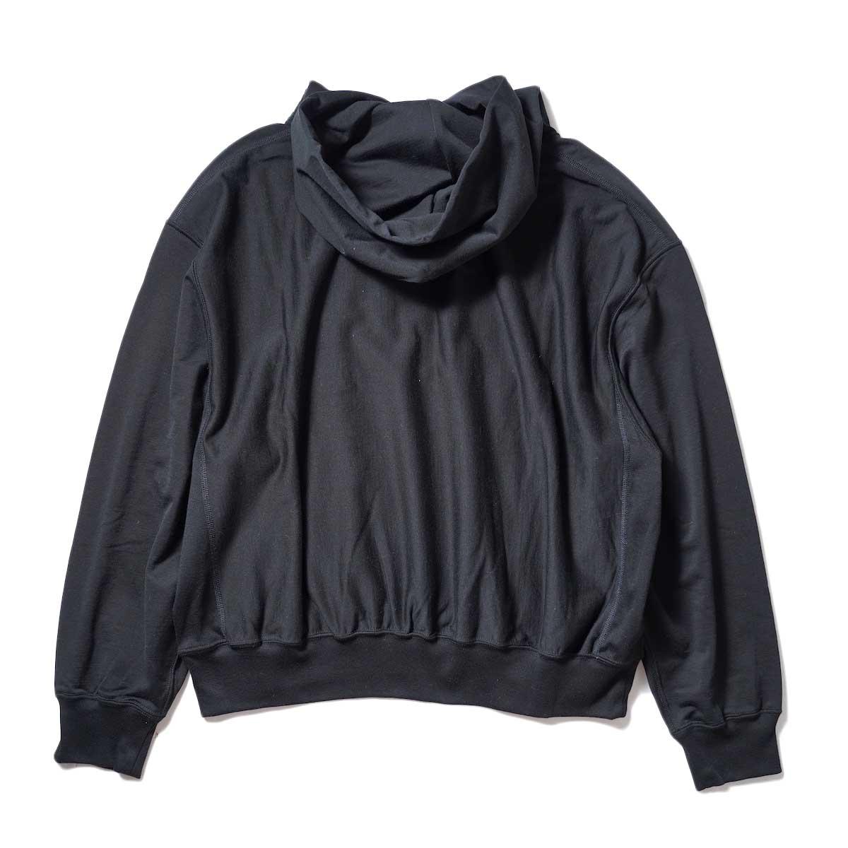 blurhms / High Gauge Sweat Hoodie P/O (Black) 背面