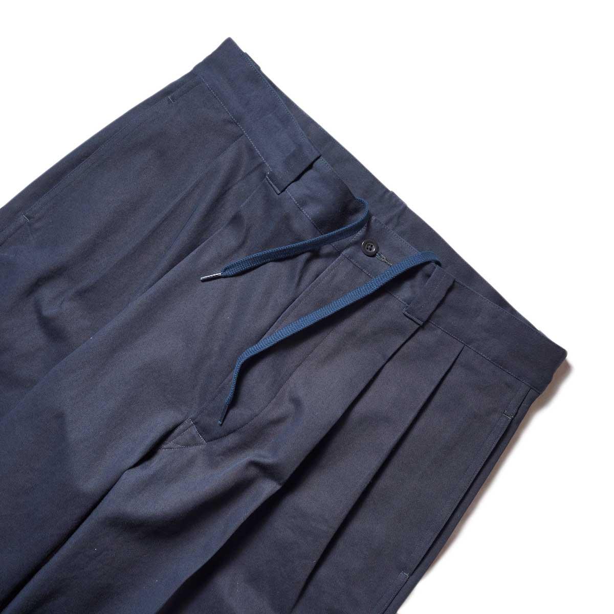 Blurhms / Wool Surge Super Wide Easy Slacks (Khaki Grey)ウエスト、2タック