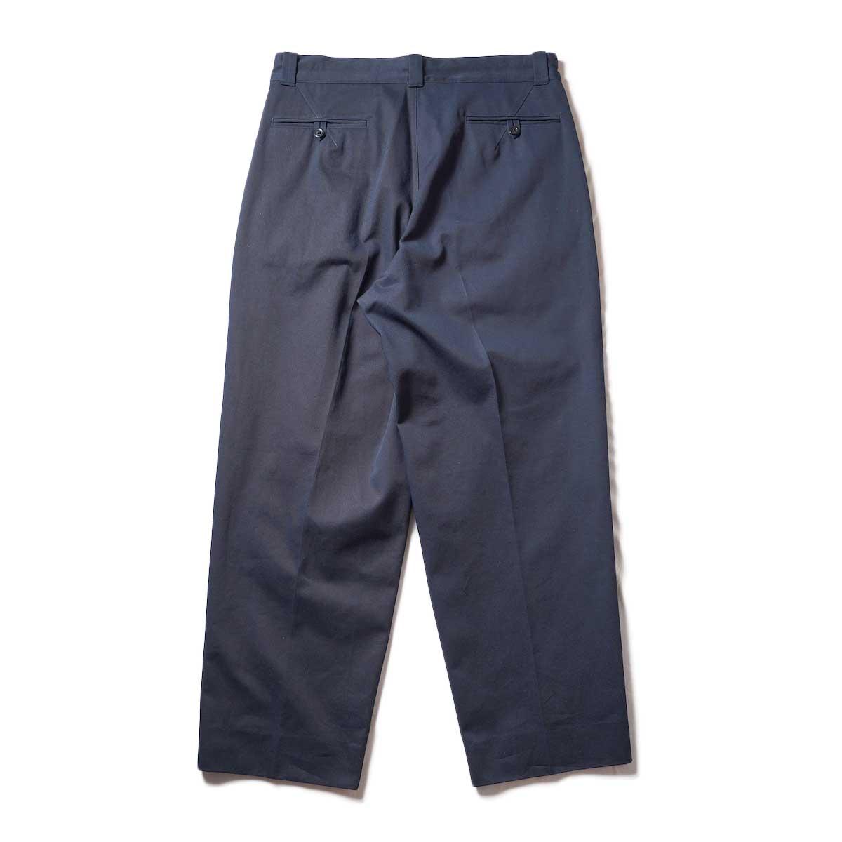 Blurhms / Chino Pants (Dark Navy)背面