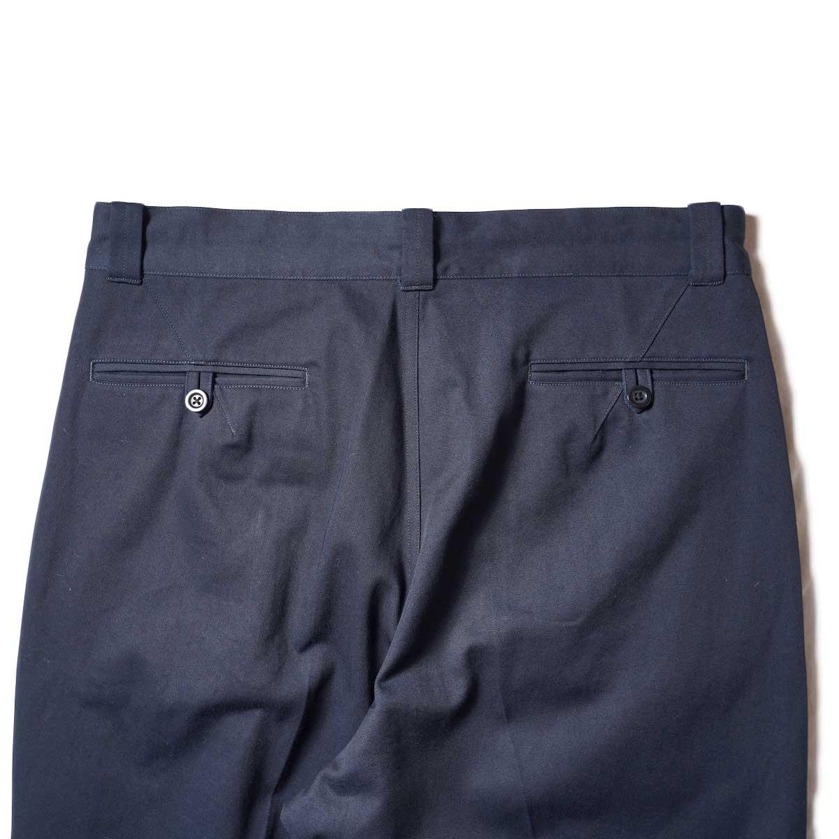 Blurhms / Chino Pants (Dark Navy)ヒップポケット