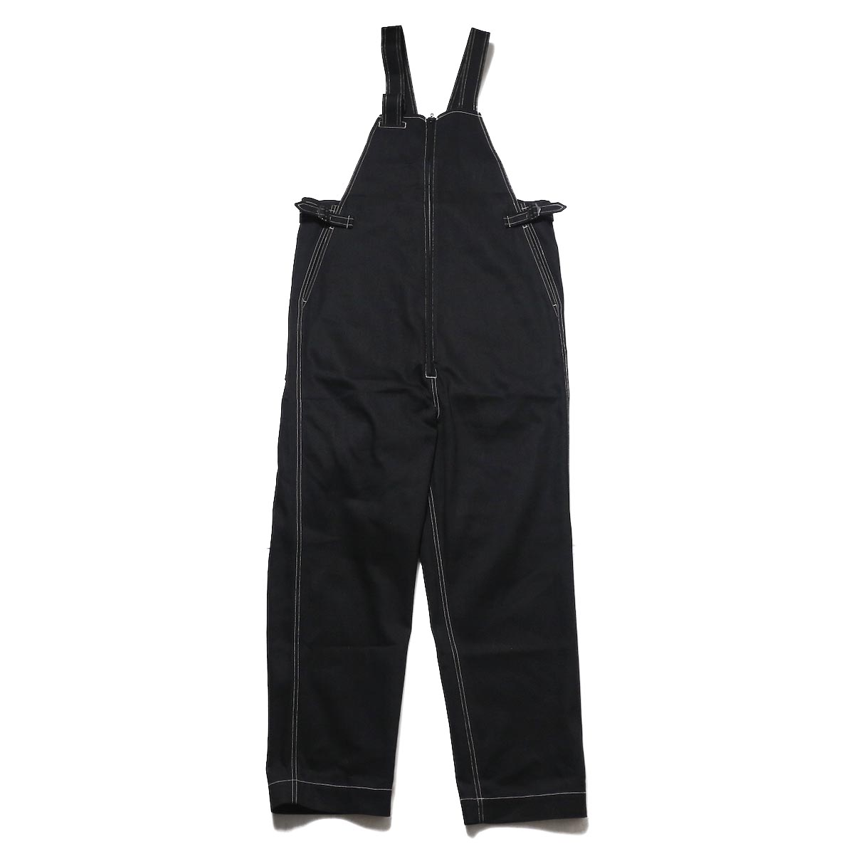 blurhms / U.S Cotton Denim Overalls (Black)正面