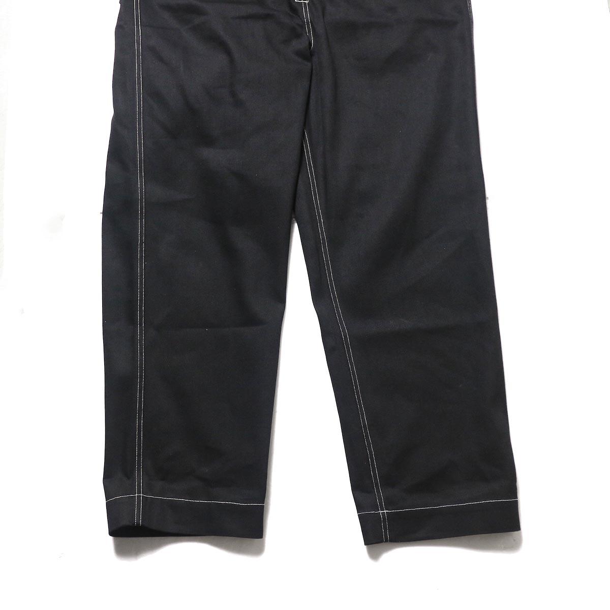 blurhms / U.S Cotton Denim Overalls (Black)裾