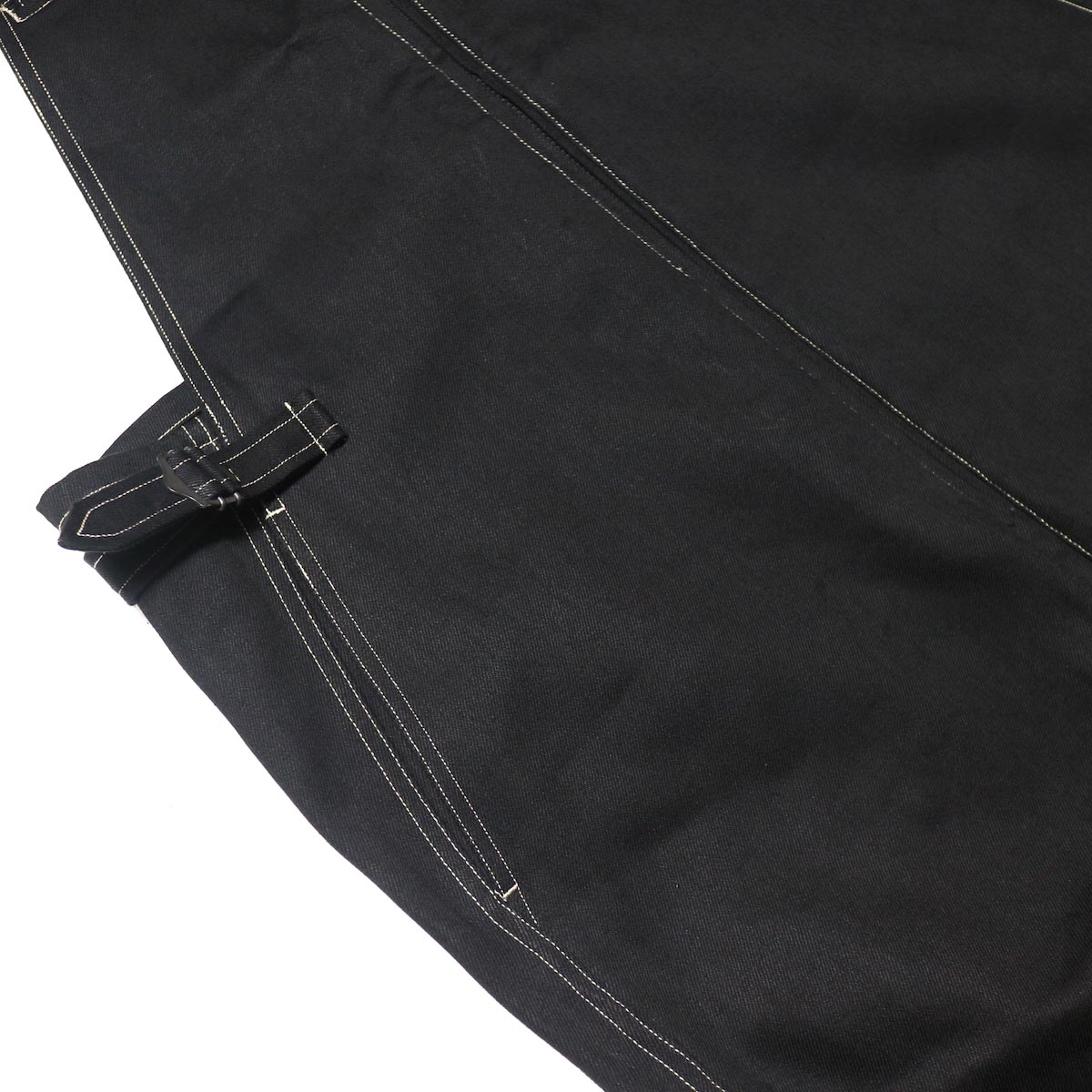 blurhms / U.S Cotton Denim Overalls (Black)アジャスター、ポケット