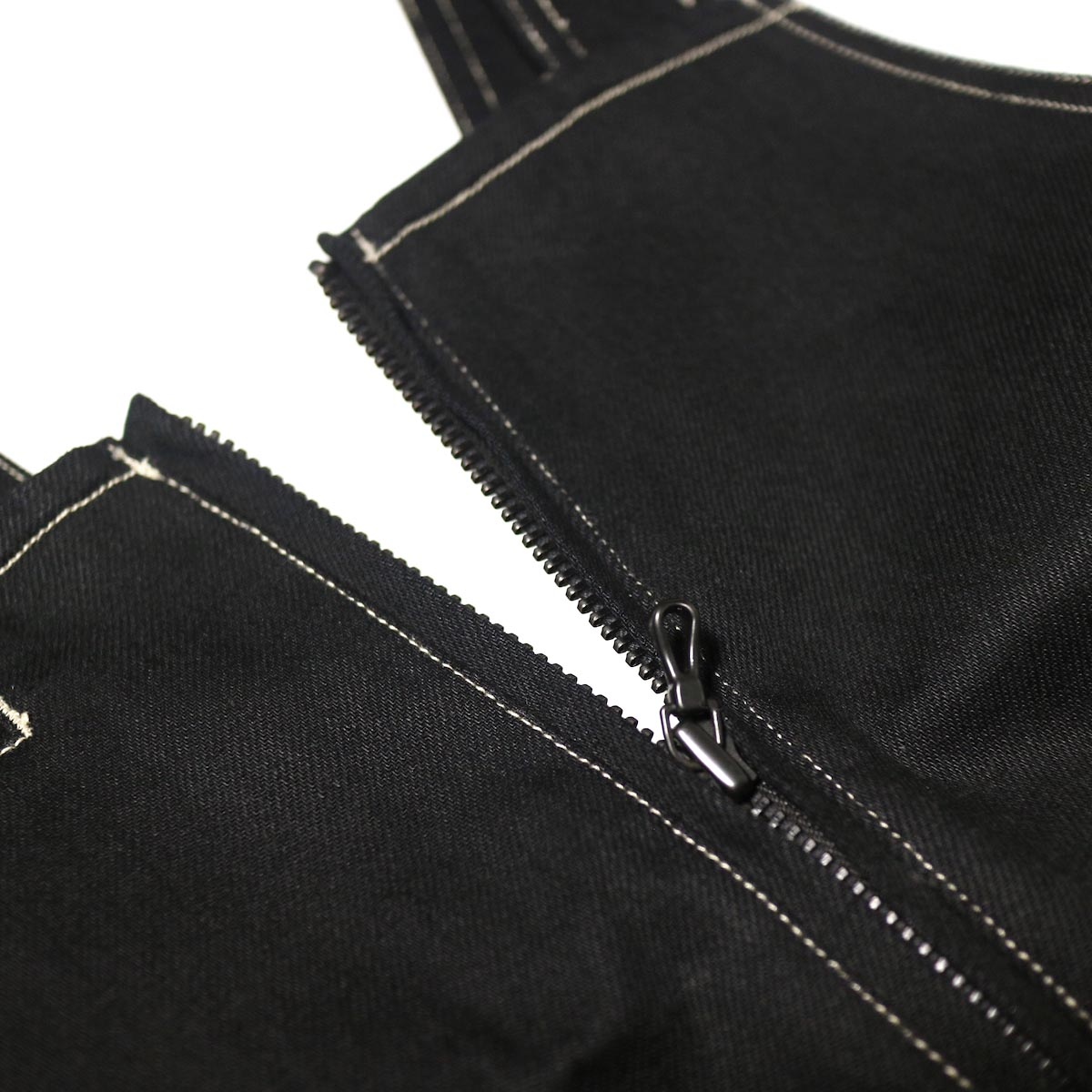 blurhms / U.S Cotton Denim Overalls (Black)zip開閉