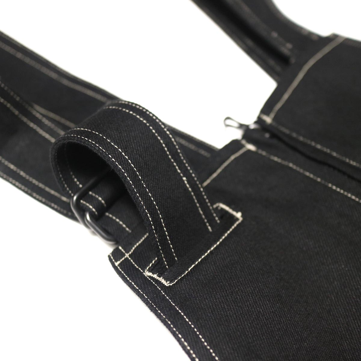 blurhms / U.S Cotton Denim Overalls (Black)ベルト収納
