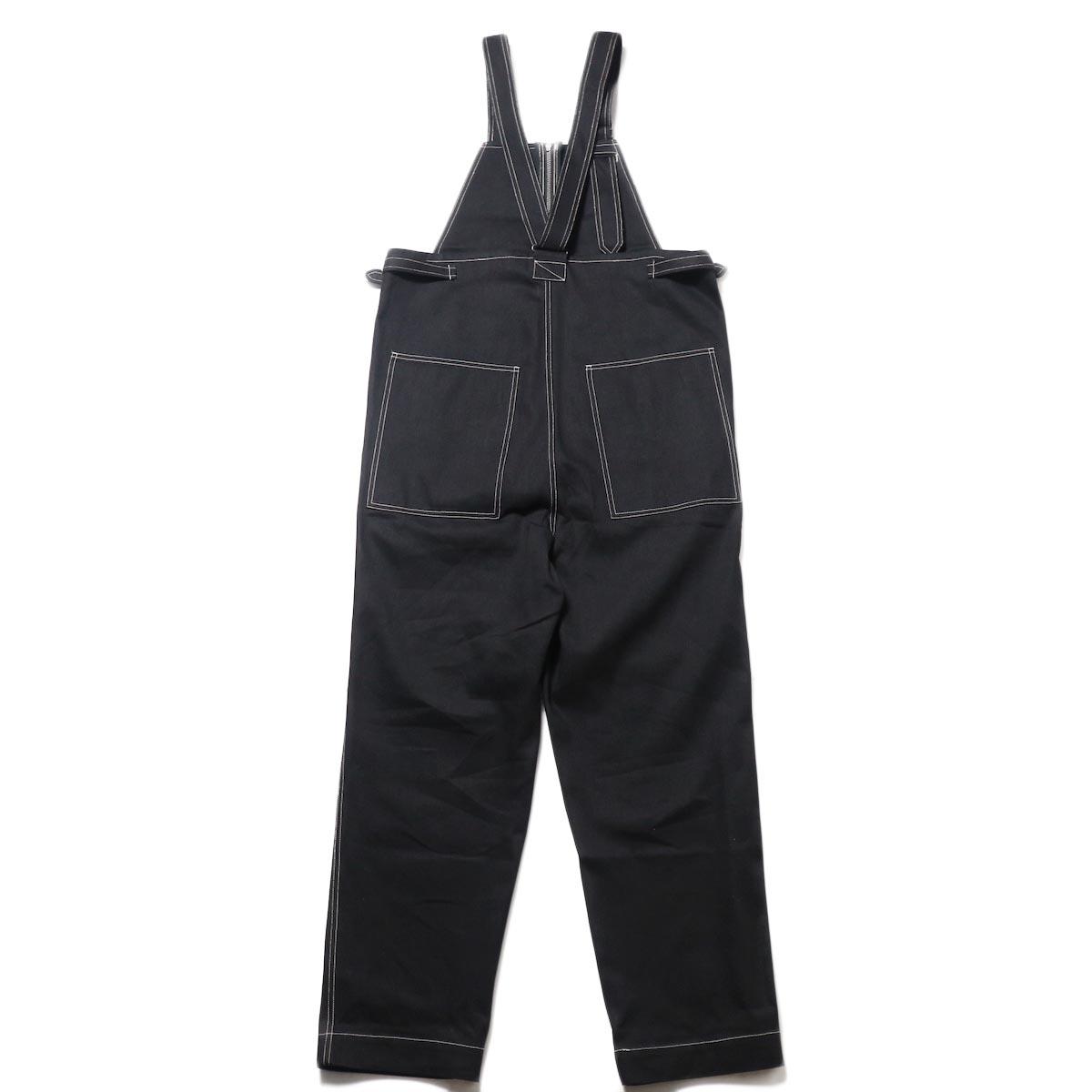 blurhms / U.S Cotton Denim Overalls (Black)背面