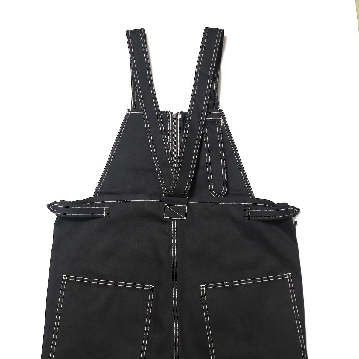blurhms / U.S Cotton Denim Overalls (Black)背面詳細
