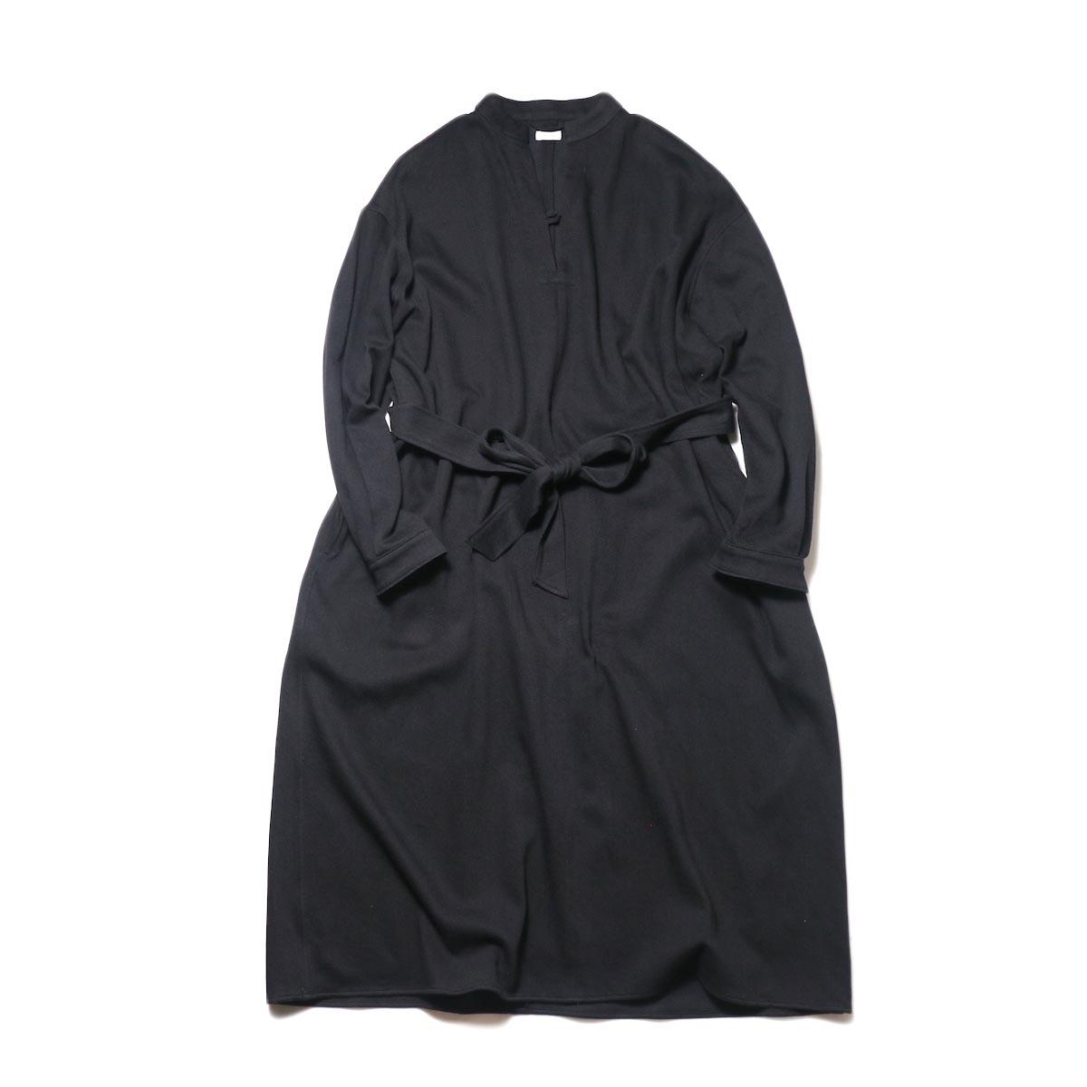 blurhms / WASHED DENIM PULLOVER DRESS L/S (black)