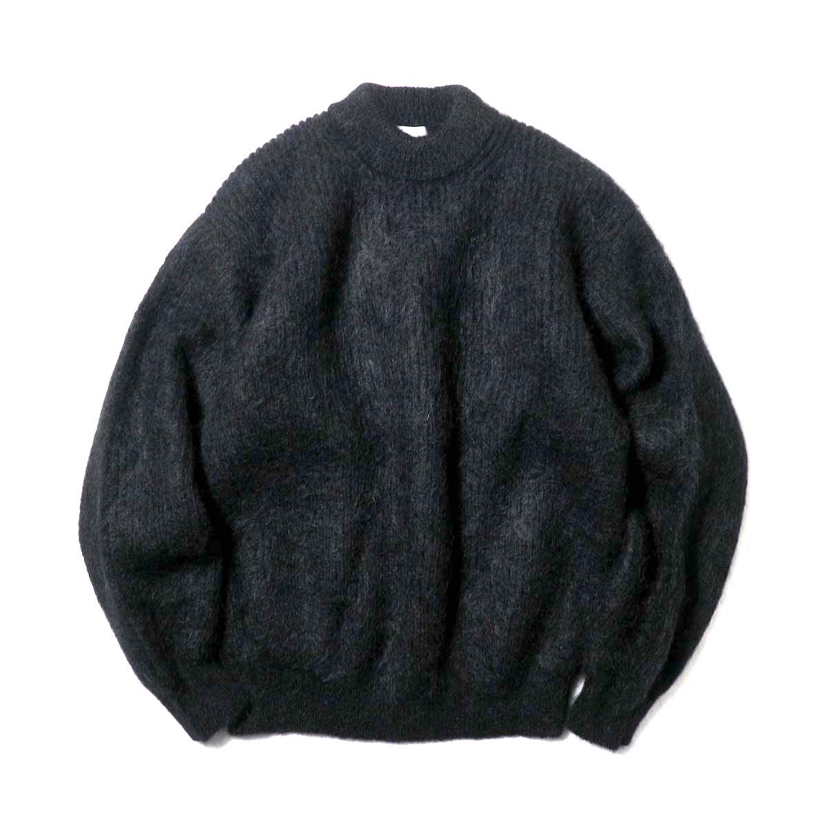 blurhms / Kid Mohair Alpaca Wool Knit P/O (Black)