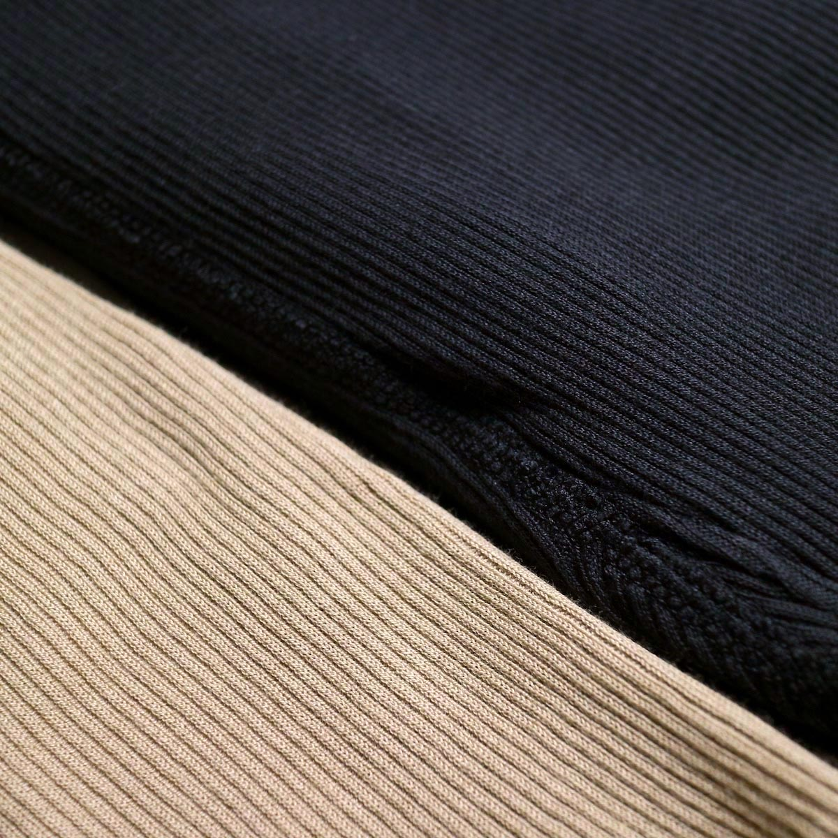 blurhms / Cotton High Stretch Rib Leggings 生地感