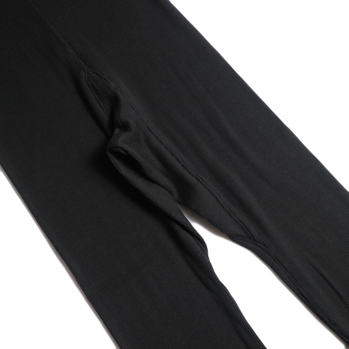 blurhms / Cotton High Stretch Rib Leggings black 股下ガセット