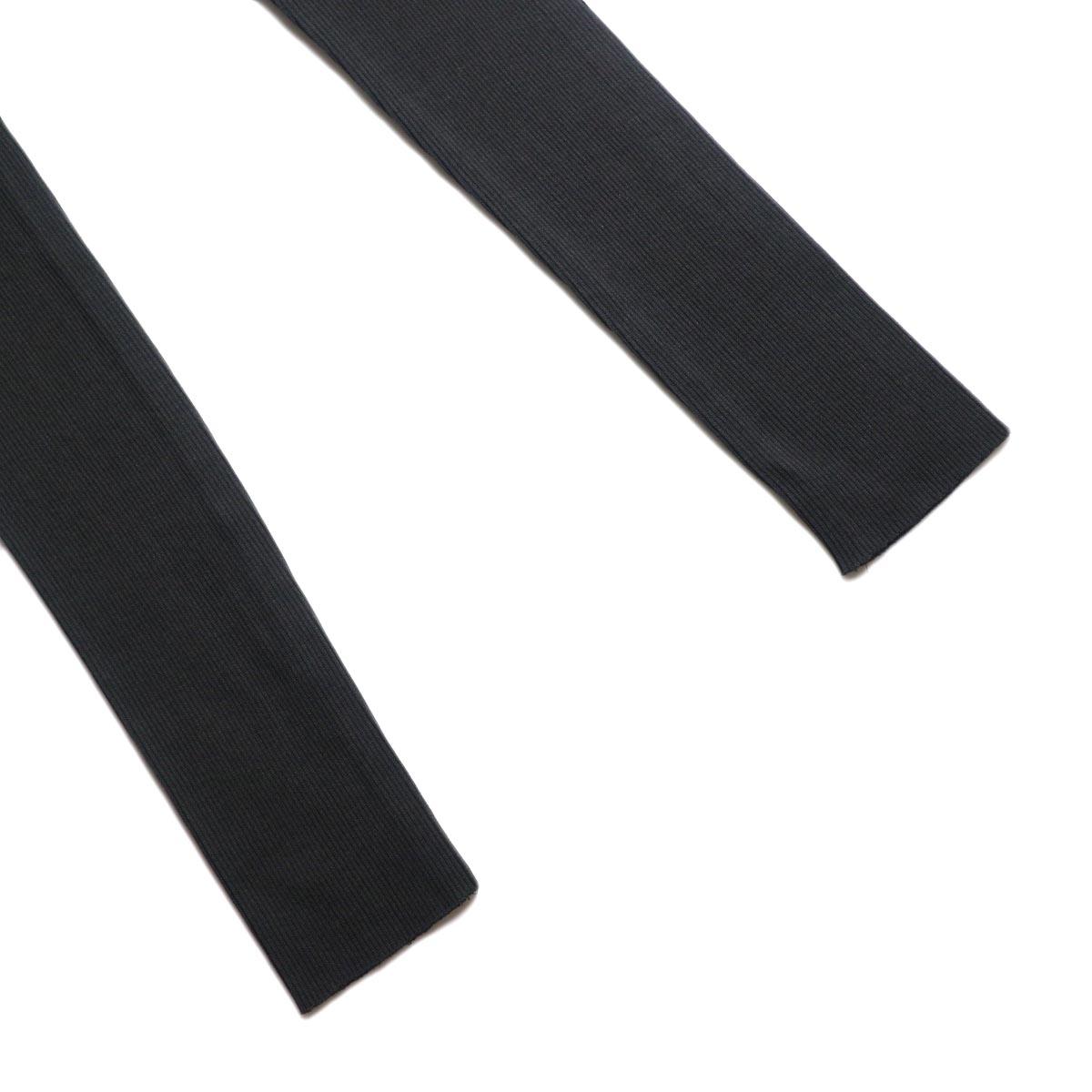 blurhms / Cotton High Stretch Rib Leggings (black) 裾