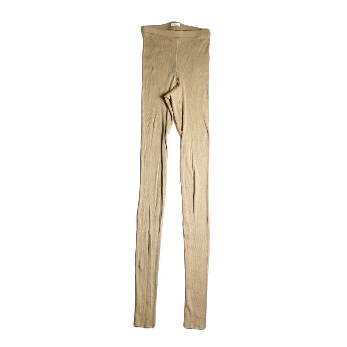 blurhms / Cotton High Stretch Rib Leggings (Beige)正面