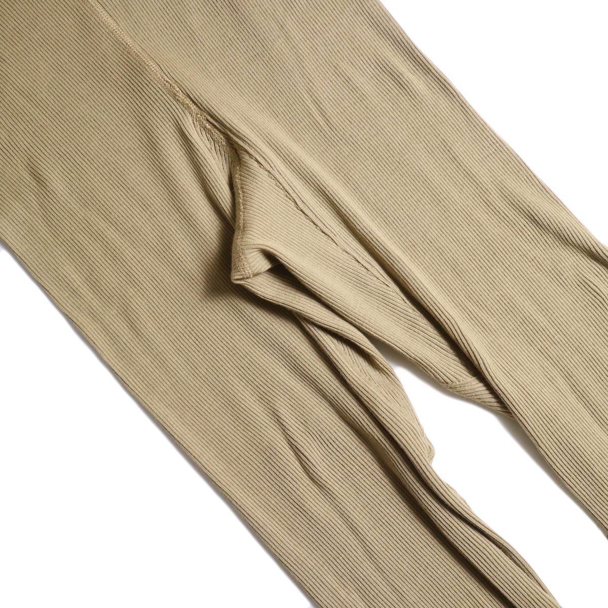 blurhms / Cotton High Stretch Rib Leggings (Beige)ガセット