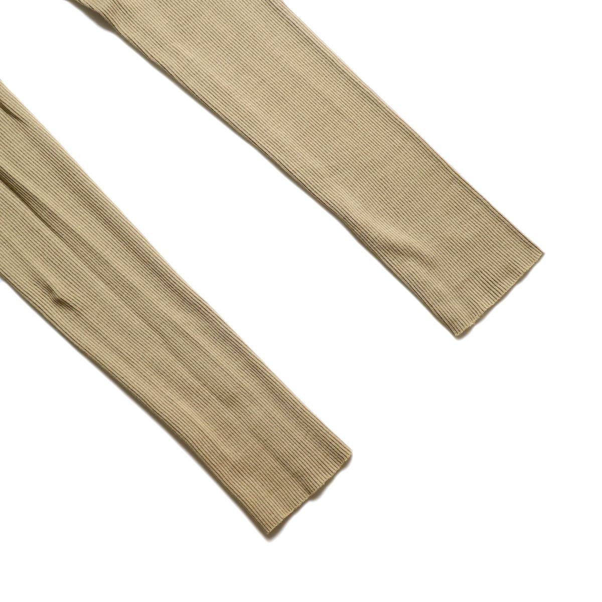 blurhms / Cotton High Stretch Rib Leggings (Beige)裾