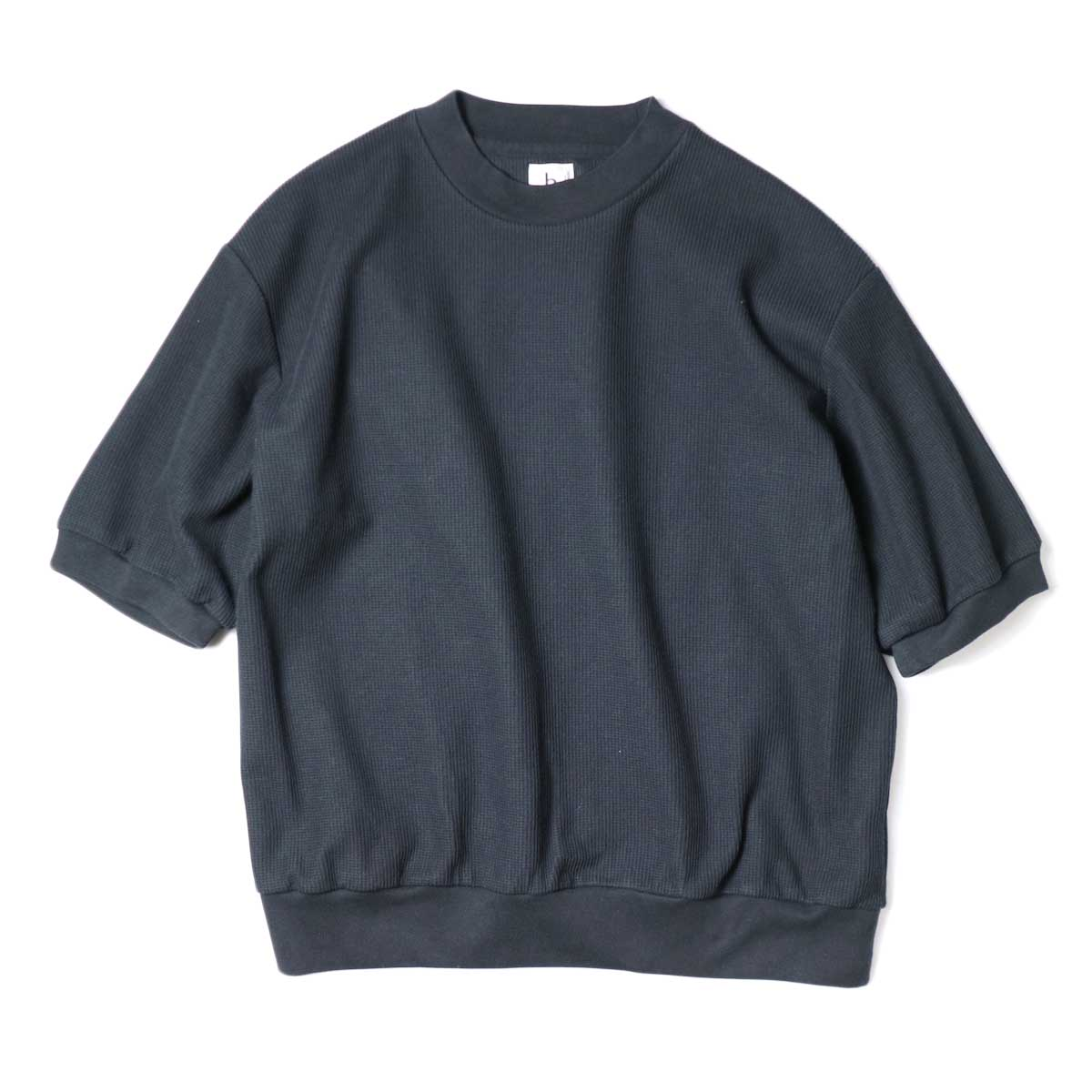 blurhms / Rough&Smooth Thermal Pullover S/S (Black) 正面