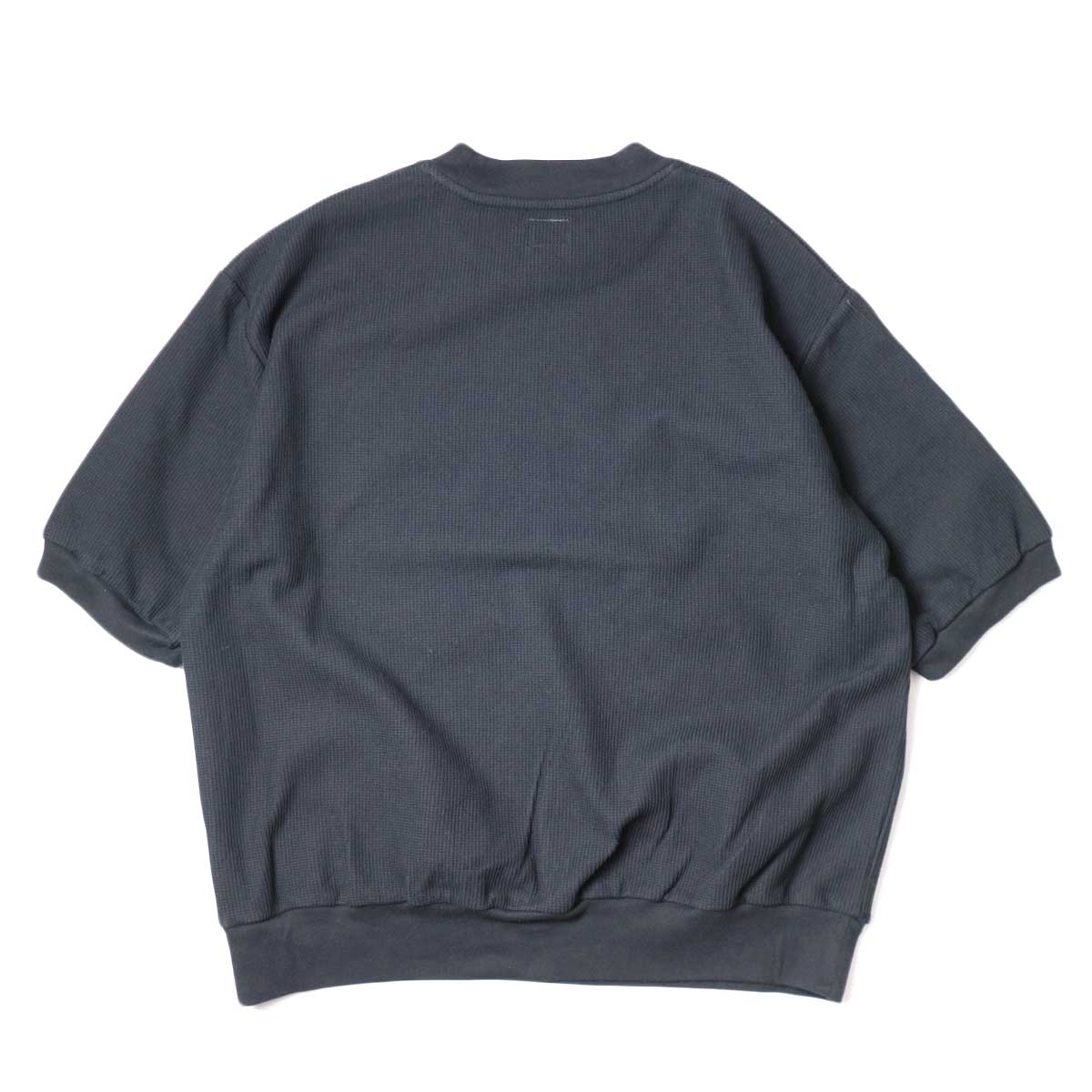 blurhms / Rough&Smooth Thermal Pullover S/S (Black) 背面