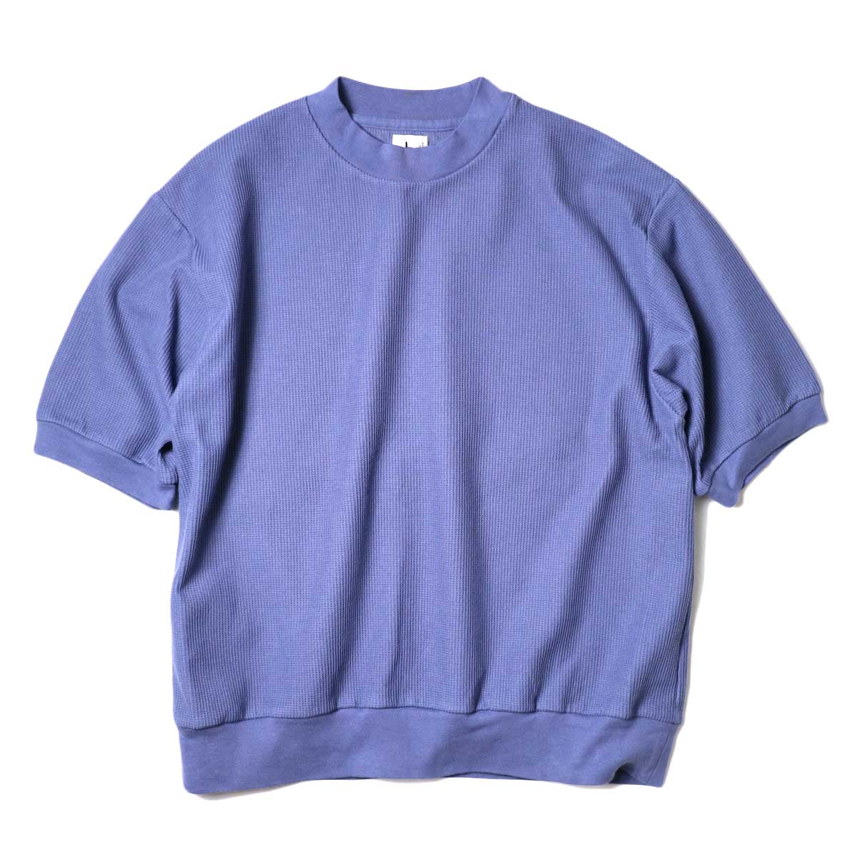 blurhms / Rough&Smooth Thermal Pullover S/S (Blue Grey) 正面