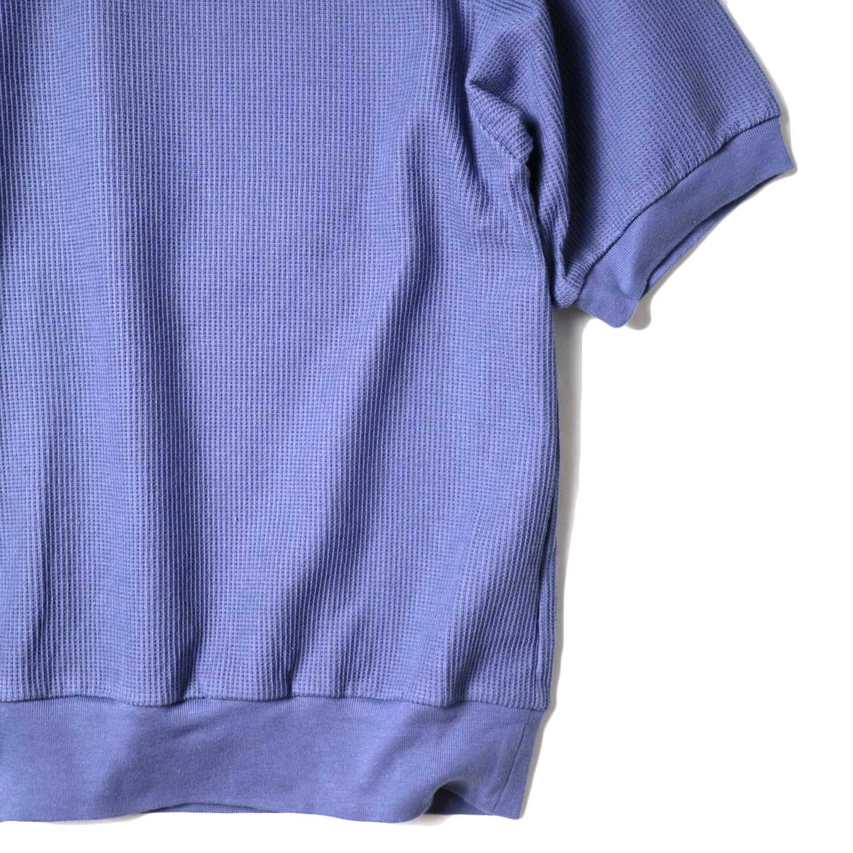 blurhms / Rough&Smooth Thermal Pullover S/S (Blue Grey) 袖・裾