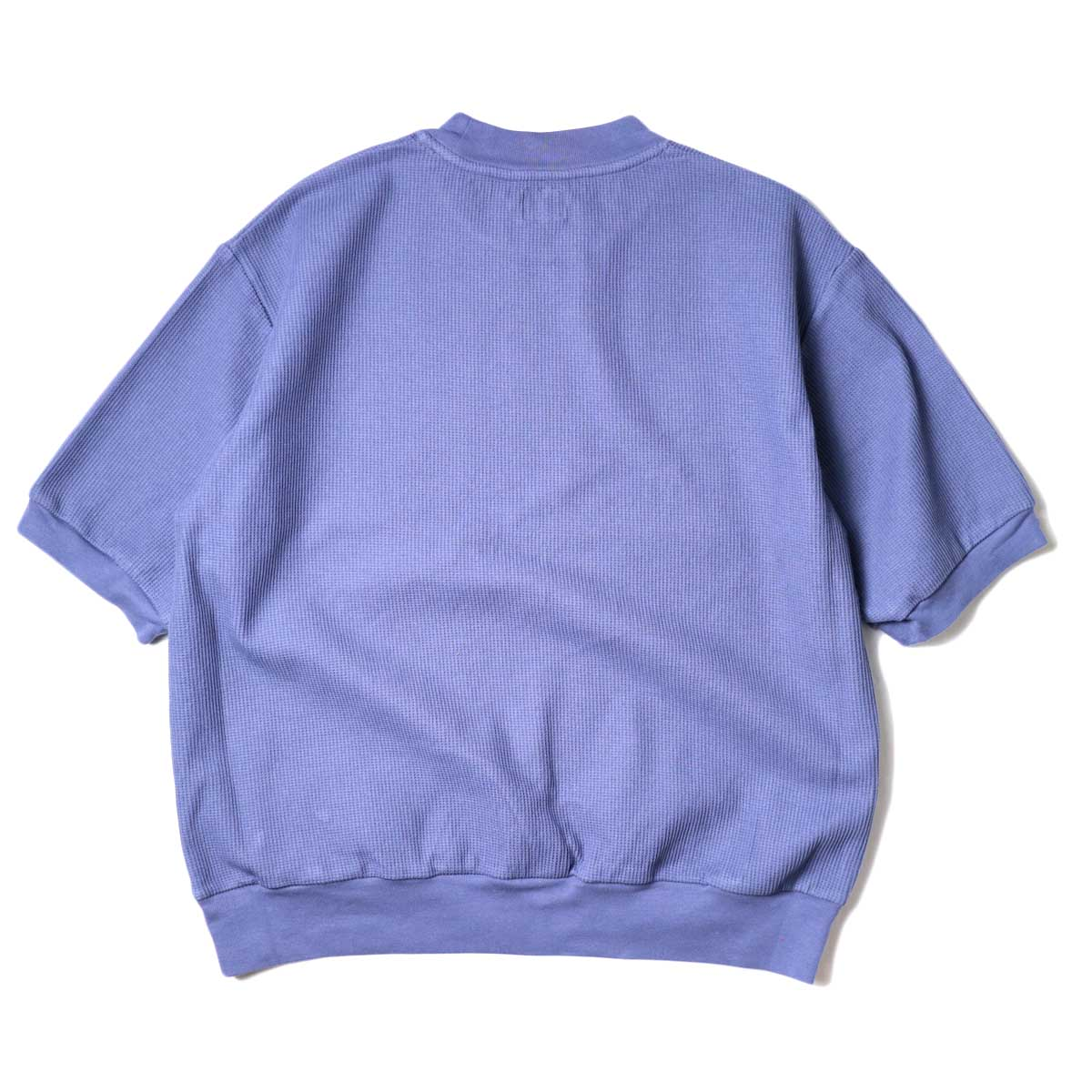 blurhms / Rough&Smooth Thermal Pullover S/S (Blue Grey) 背面