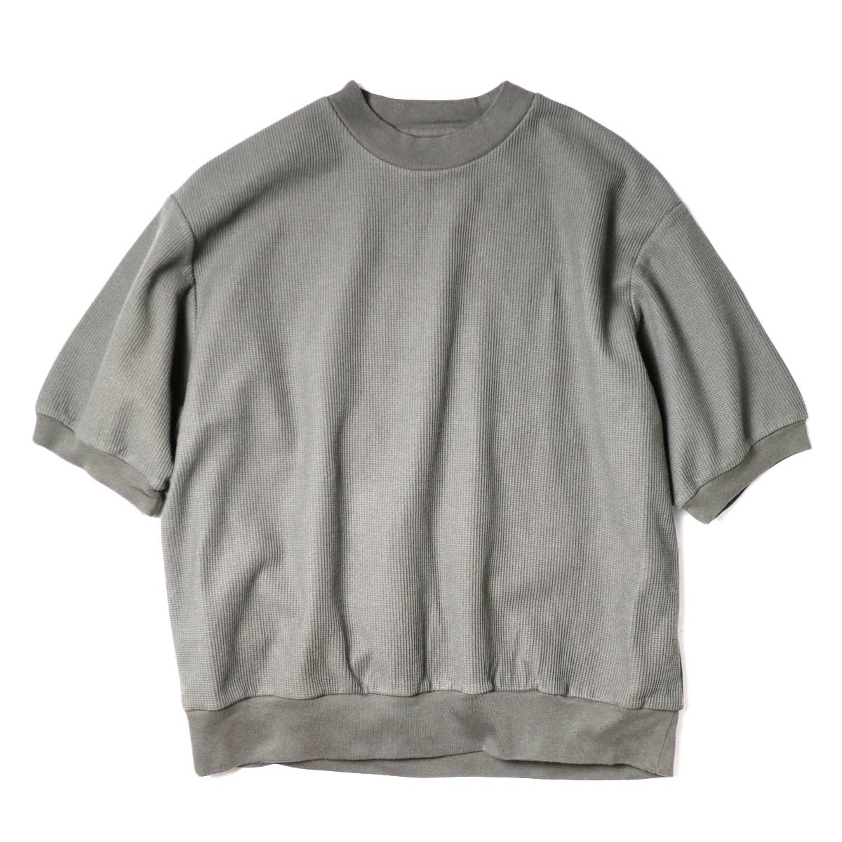 blurhms / Rough&Smooth Thermal Pullover S/S (Khaki Grey)
